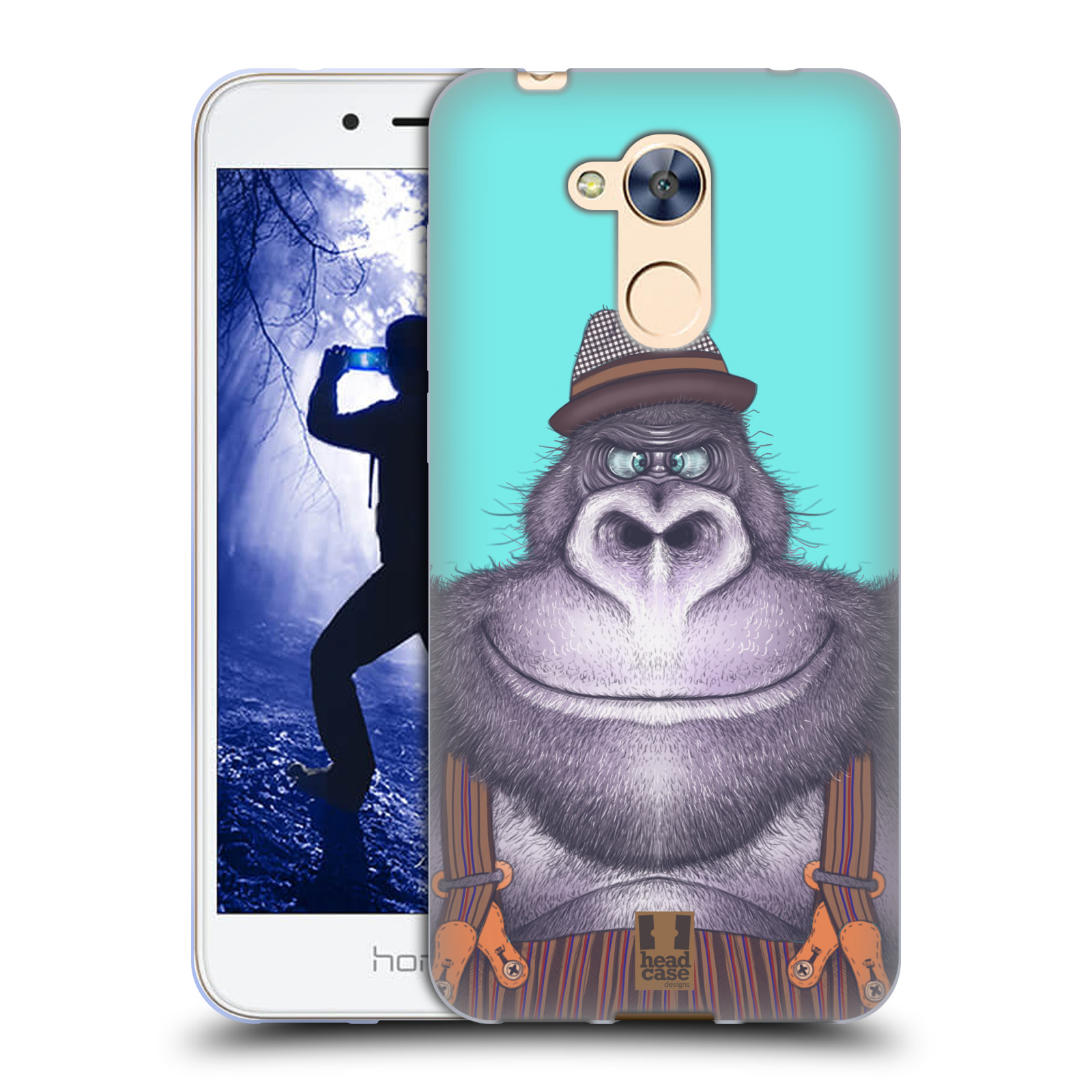 Silikonové pouzdro na mobil Honor 6A - Head Case - ANIMPLA GORILÁK