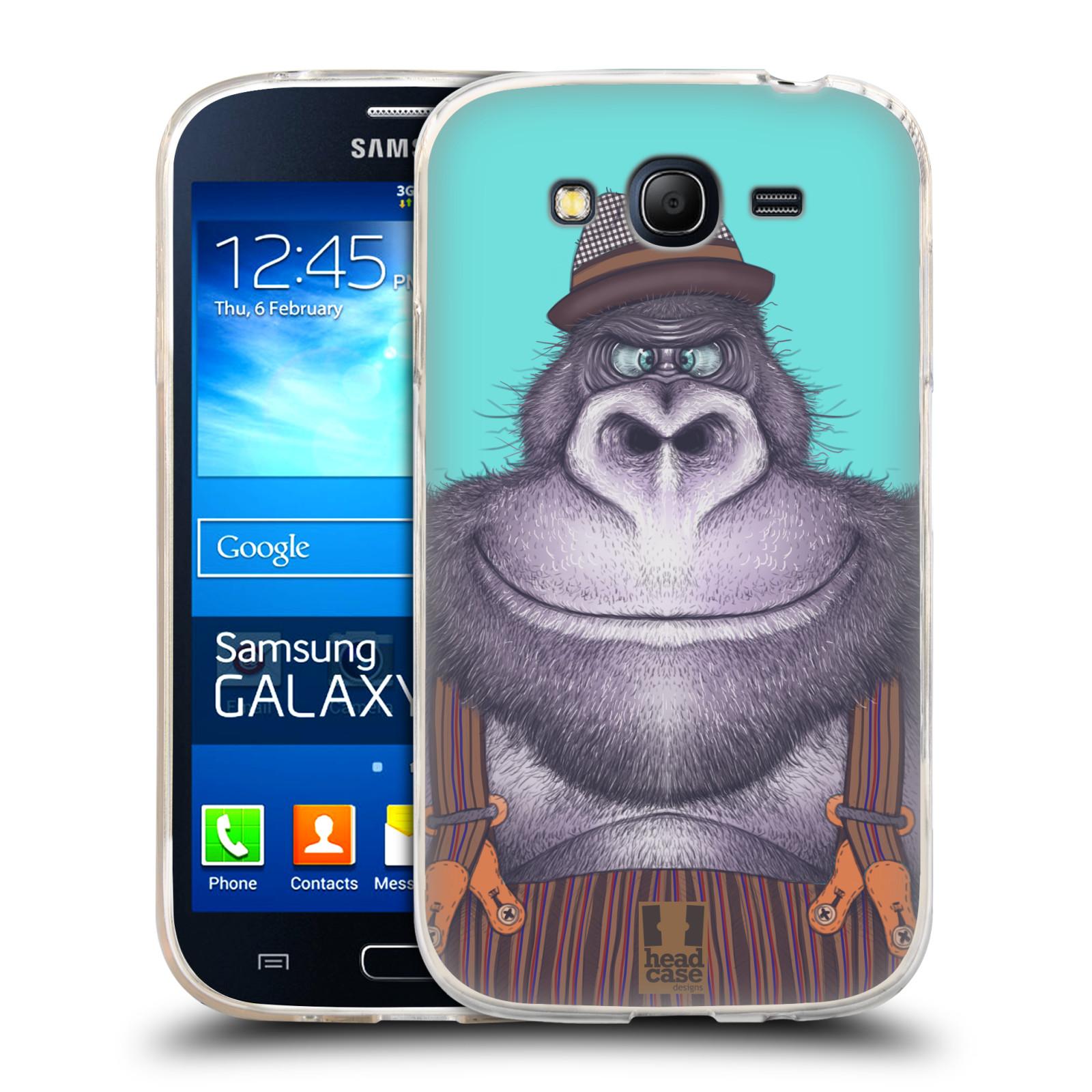 Silikonové pouzdro na mobil Samsung Galaxy Grand Neo HEAD CASE ANIMPLA GORILÁK