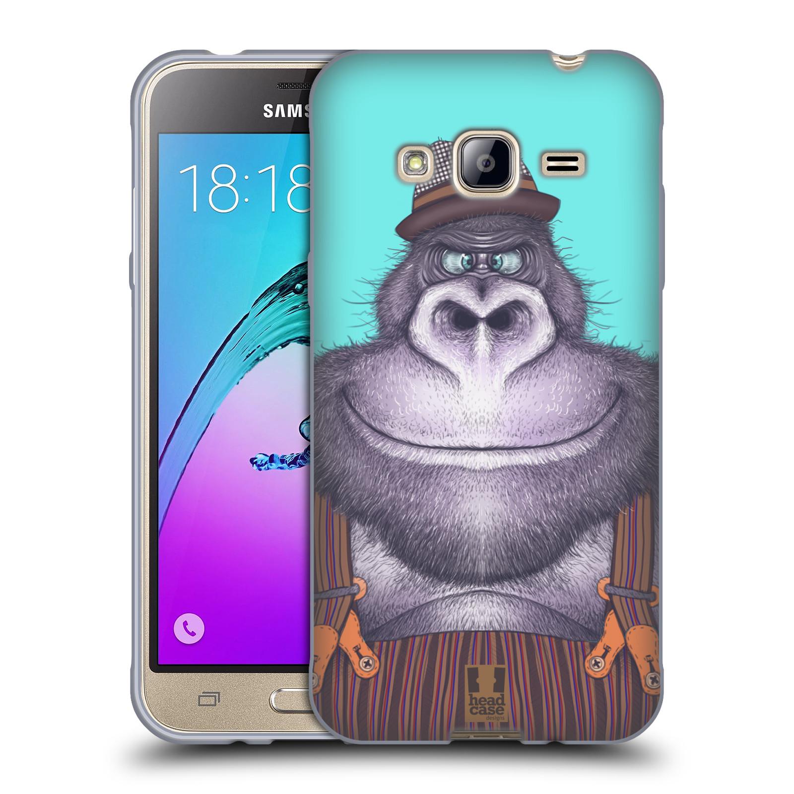 Silikonové pouzdro na mobil Samsung Galaxy J3 (2016) HEAD CASE ANIMPLA GORILÁK
