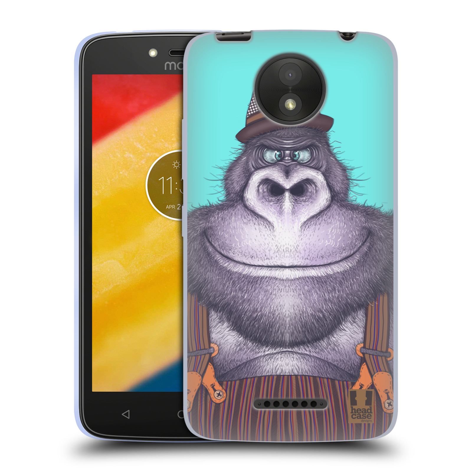 Silikonové pouzdro na mobil Lenovo Moto C Plus - Head Case - ANIMPLA GORILÁK