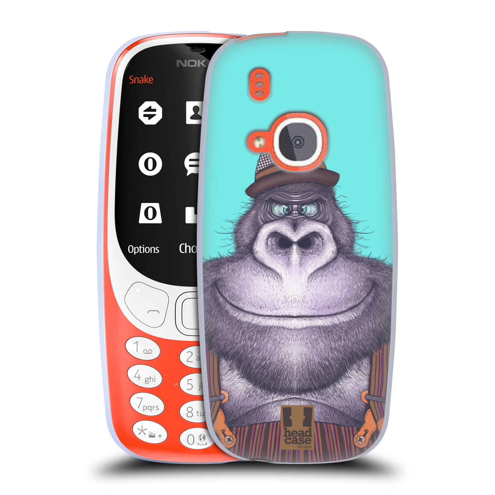 Silikonové pouzdro na mobil Nokia 3310 - Head Case - ANIMPLA GORILÁK