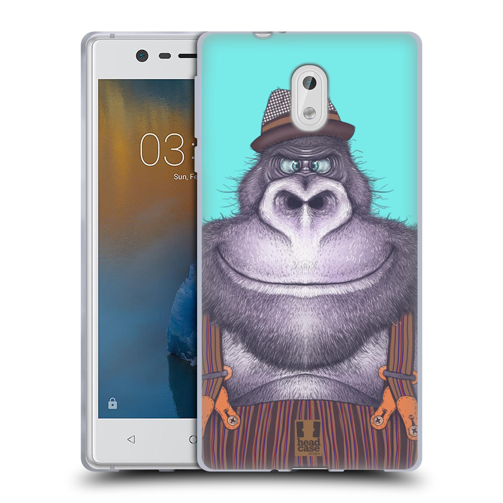 Silikonové pouzdro na mobil Nokia 3 Head Case - ANIMPLA GORILÁK