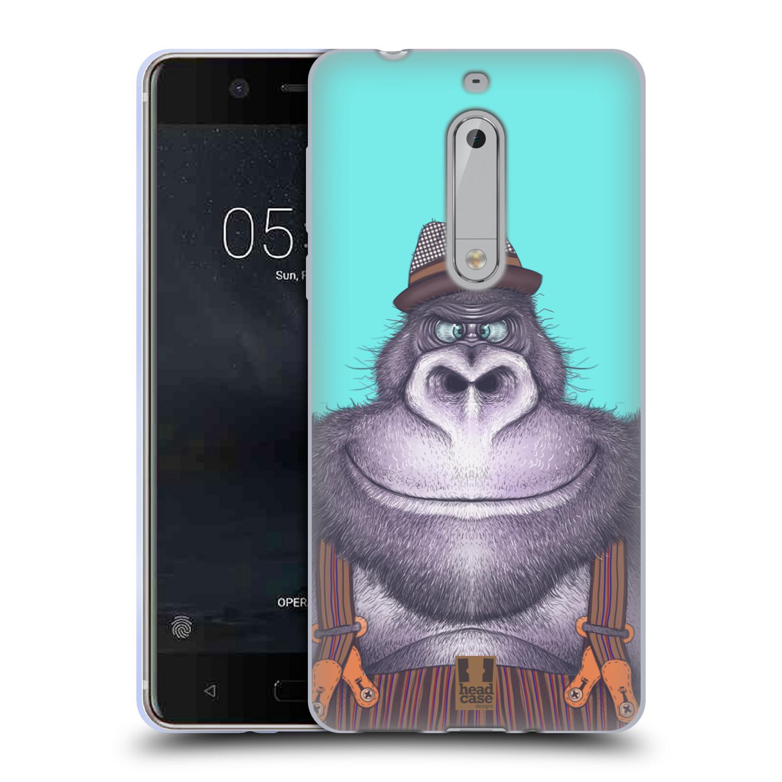 Silikonové pouzdro na mobil Nokia 5 Head Case - ANIMPLA GORILÁK