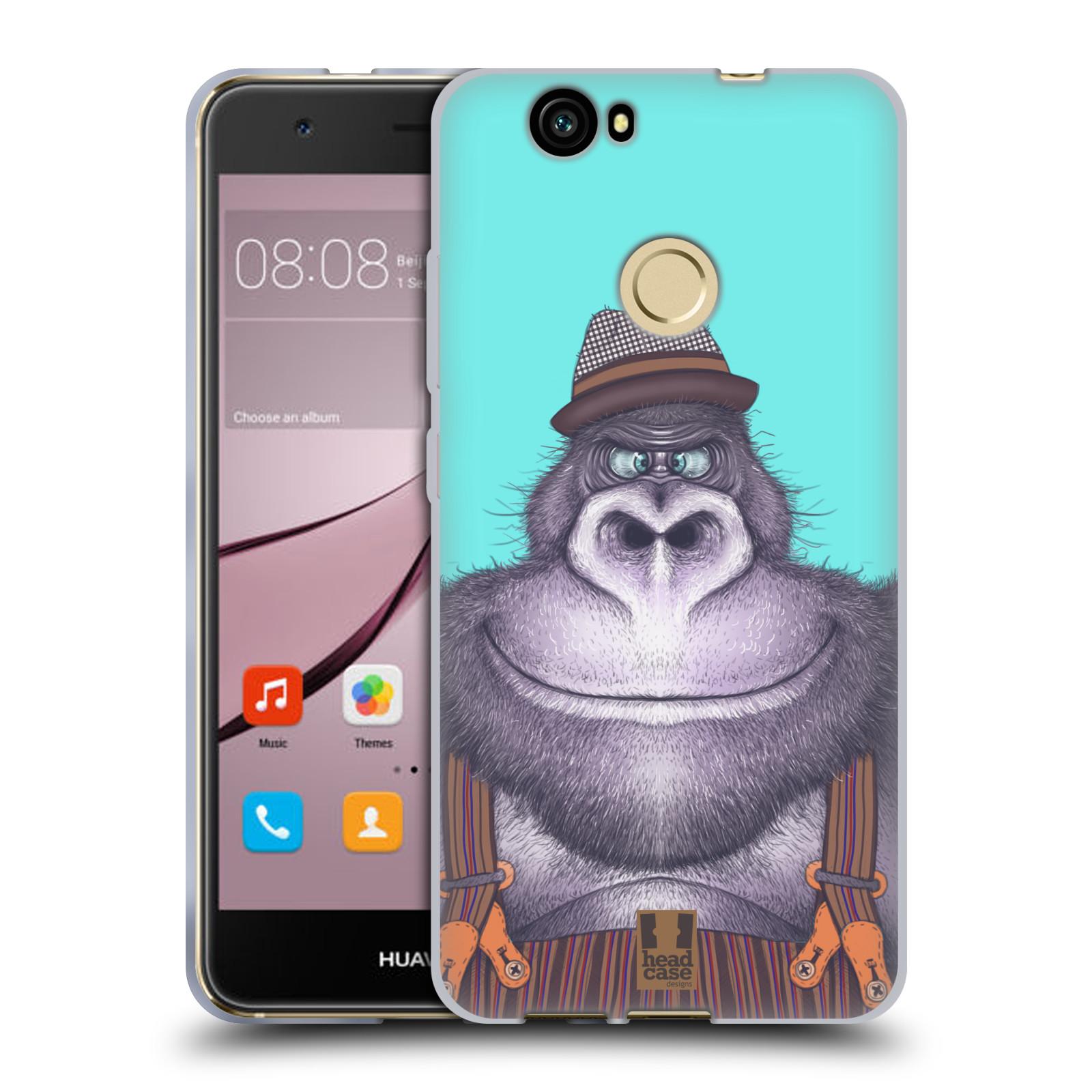 Silikonové pouzdro na mobil Huawei Nova - Head Case - ANIMPLA GORILÁK