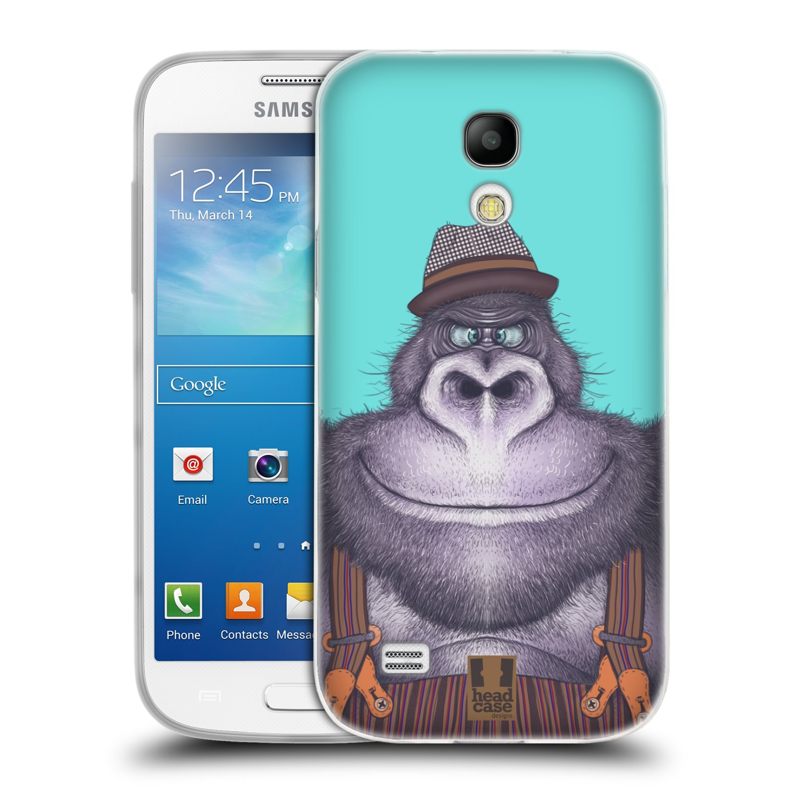 Silikonové pouzdro na mobil Samsung Galaxy S4 Mini HEAD CASE ANIMPLA GORILÁK