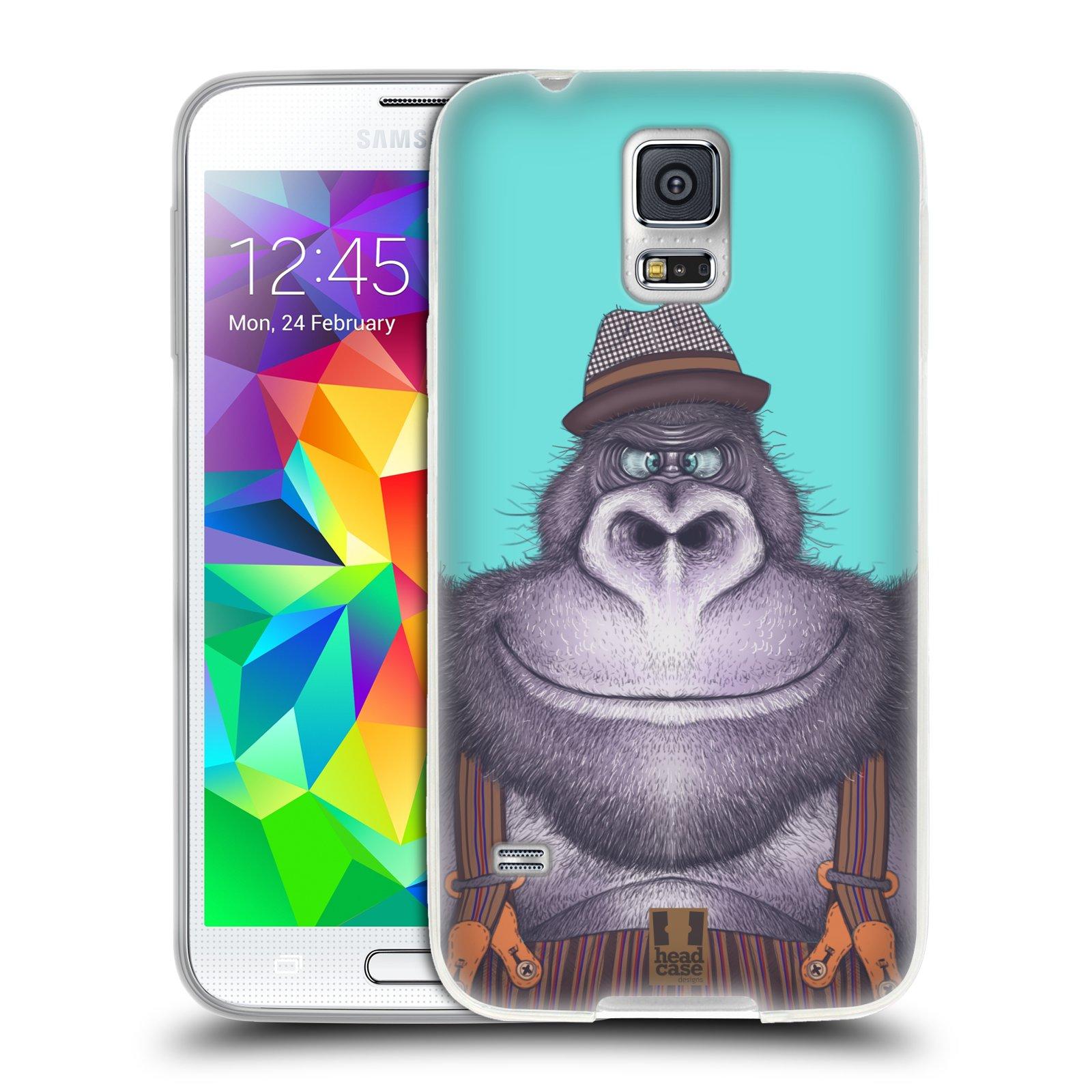 Silikonové pouzdro na mobil Samsung Galaxy S5 HEAD CASE ANIMPLA GORILÁK