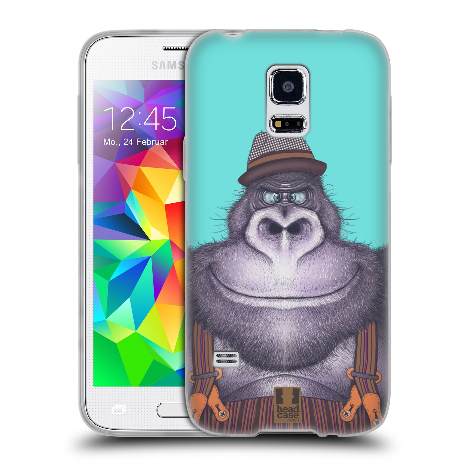 Silikonové pouzdro na mobil Samsung Galaxy S5 Mini HEAD CASE ANIMPLA GORILÁK