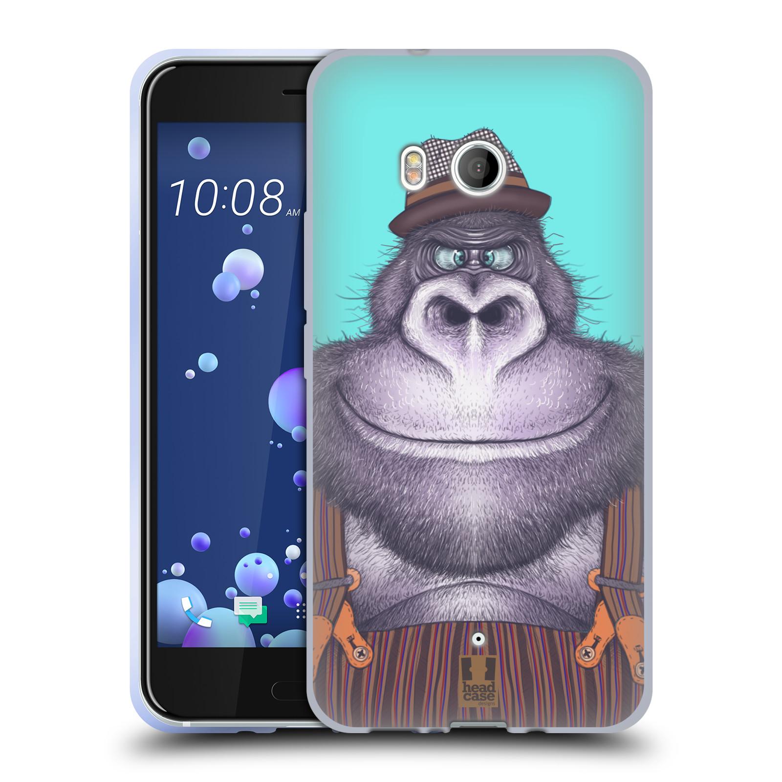 Silikonové pouzdro na mobil HTC U11 - Head Case - ANIMPLA GORILÁK