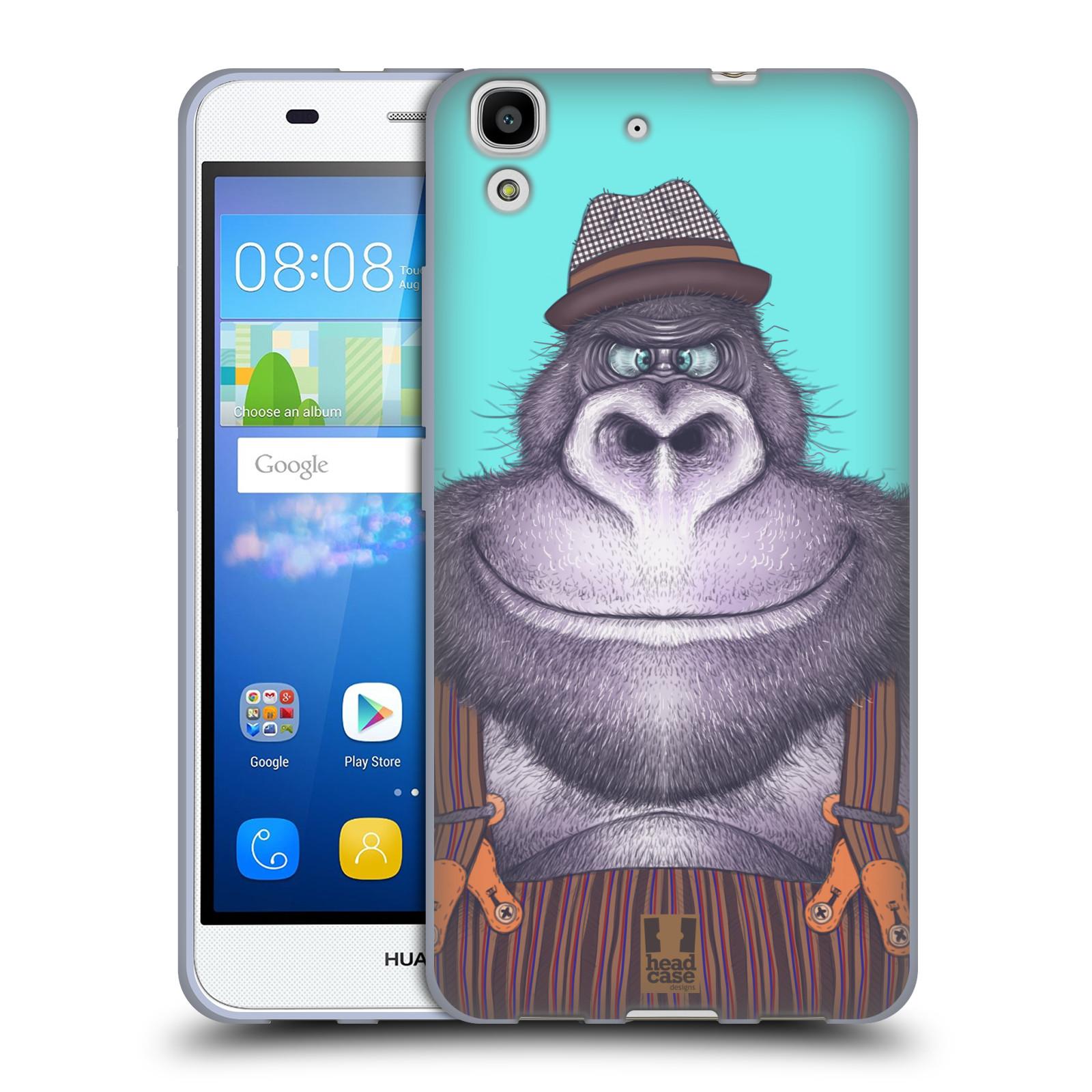 Silikonové pouzdro na mobil Huawei Y6 HEAD CASE ANIMPLA GORILÁK