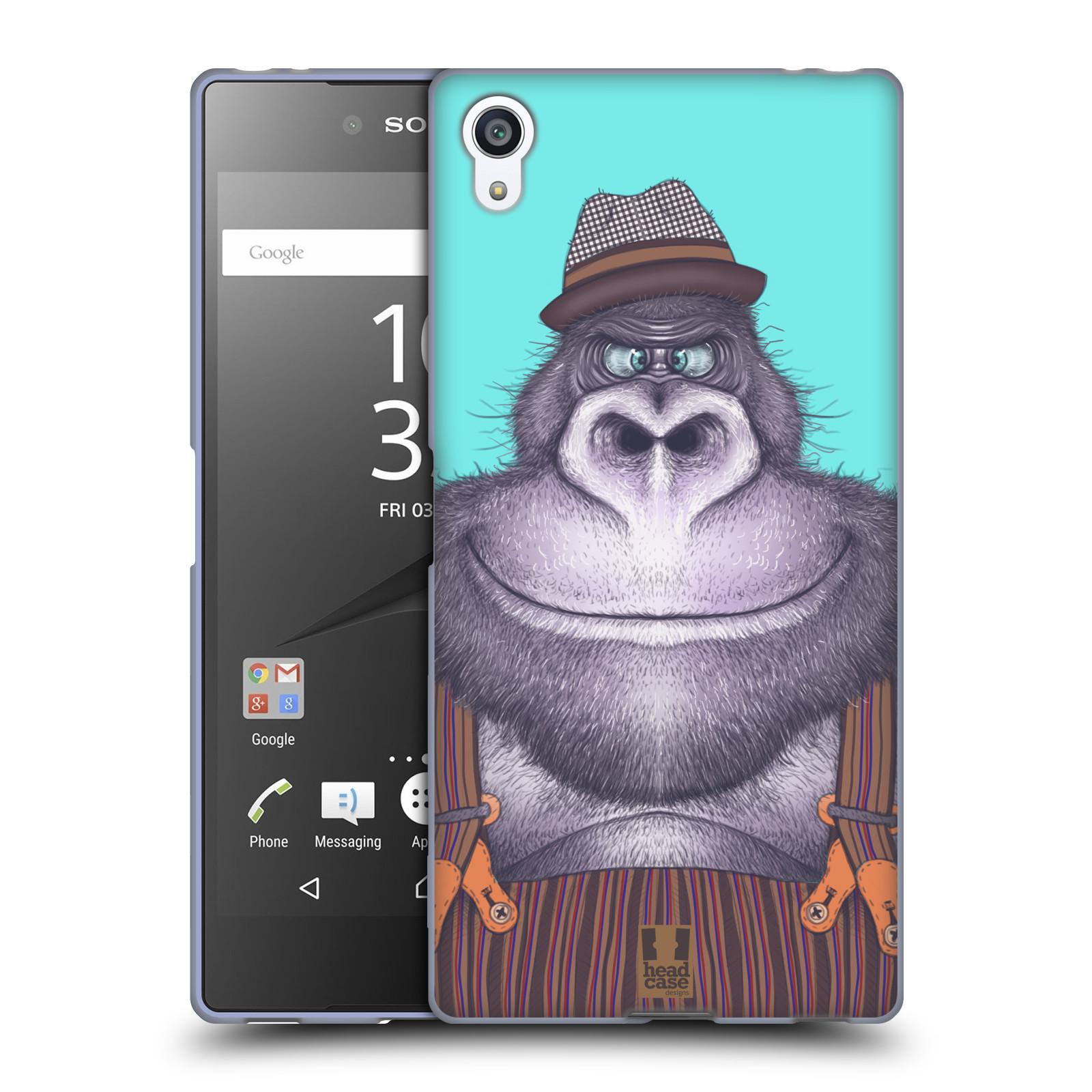 Silikonové pouzdro na mobil Sony Xperia Z5 Premium HEAD CASE ANIMPLA GORILÁK