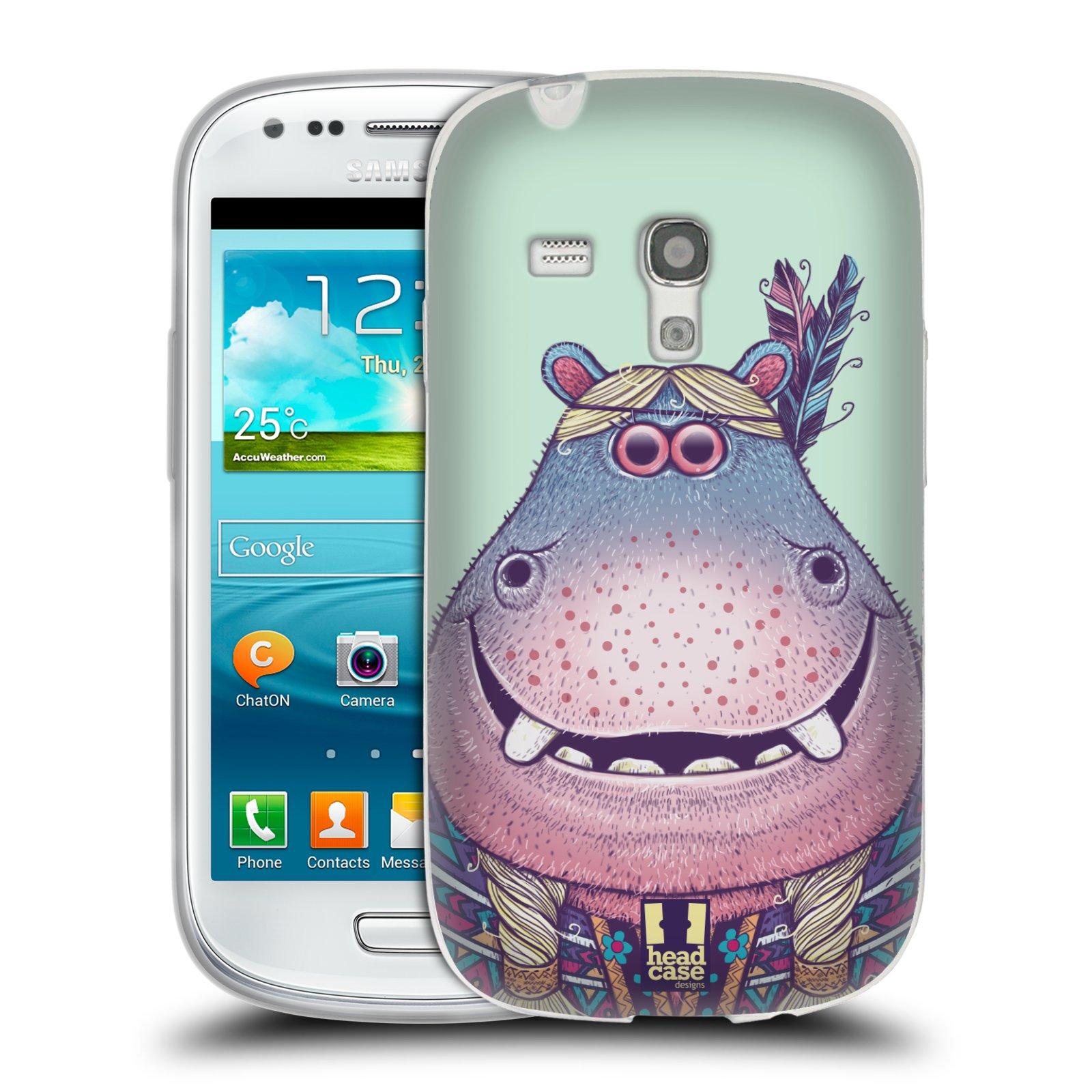 Silikonové pouzdro na mobil Samsung Galaxy S III Mini HEAD CASE ANIMPLA HROŠICE (Silikonový kryt či obal na mobilní telefon Samsung Galaxy S III Mini GT-i8190)