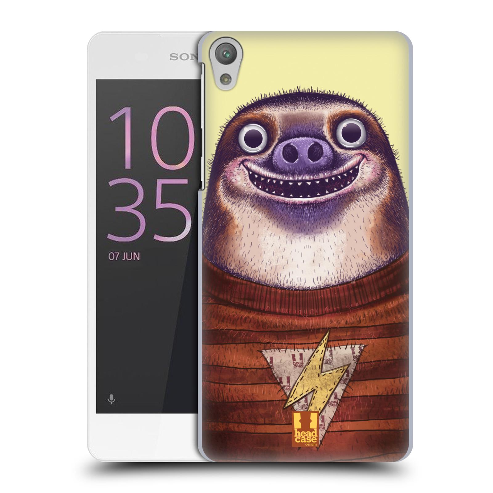 Plastové pouzdro na mobil Sony Xperia E5 HEAD CASE ANIMPLA LENOCHOD