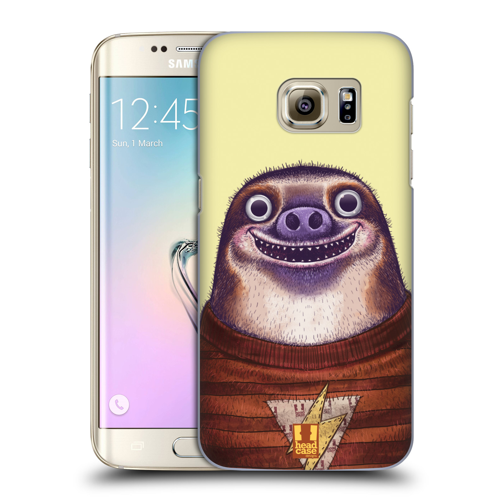 Plastové pouzdro na mobil Samsung Galaxy S7 Edge HEAD CASE ANIMPLA LENOCHOD