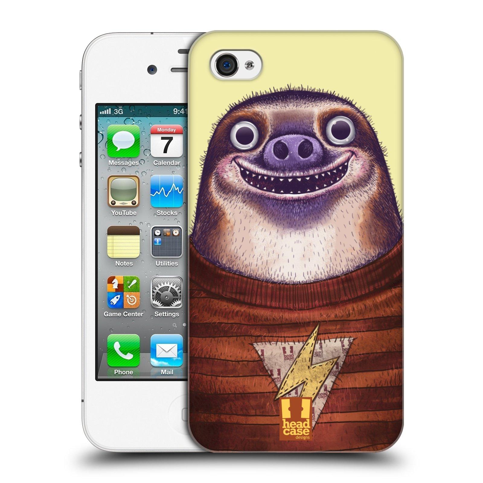 Plastové pouzdro na mobil Apple iPhone 4 a 4S HEAD CASE ANIMPLA LENOCHOD
