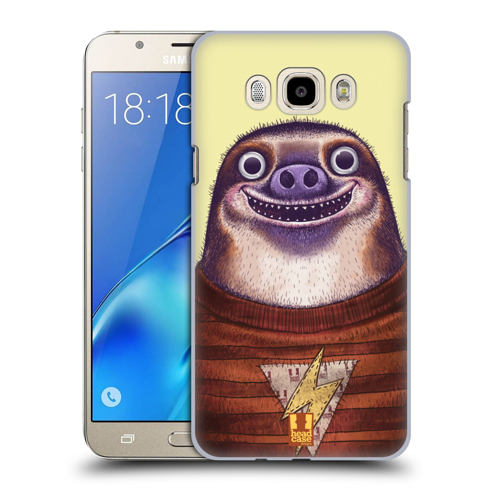 Plastové pouzdro na mobil Samsung Galaxy J7 (2016) HEAD CASE ANIMPLA LENOCHOD