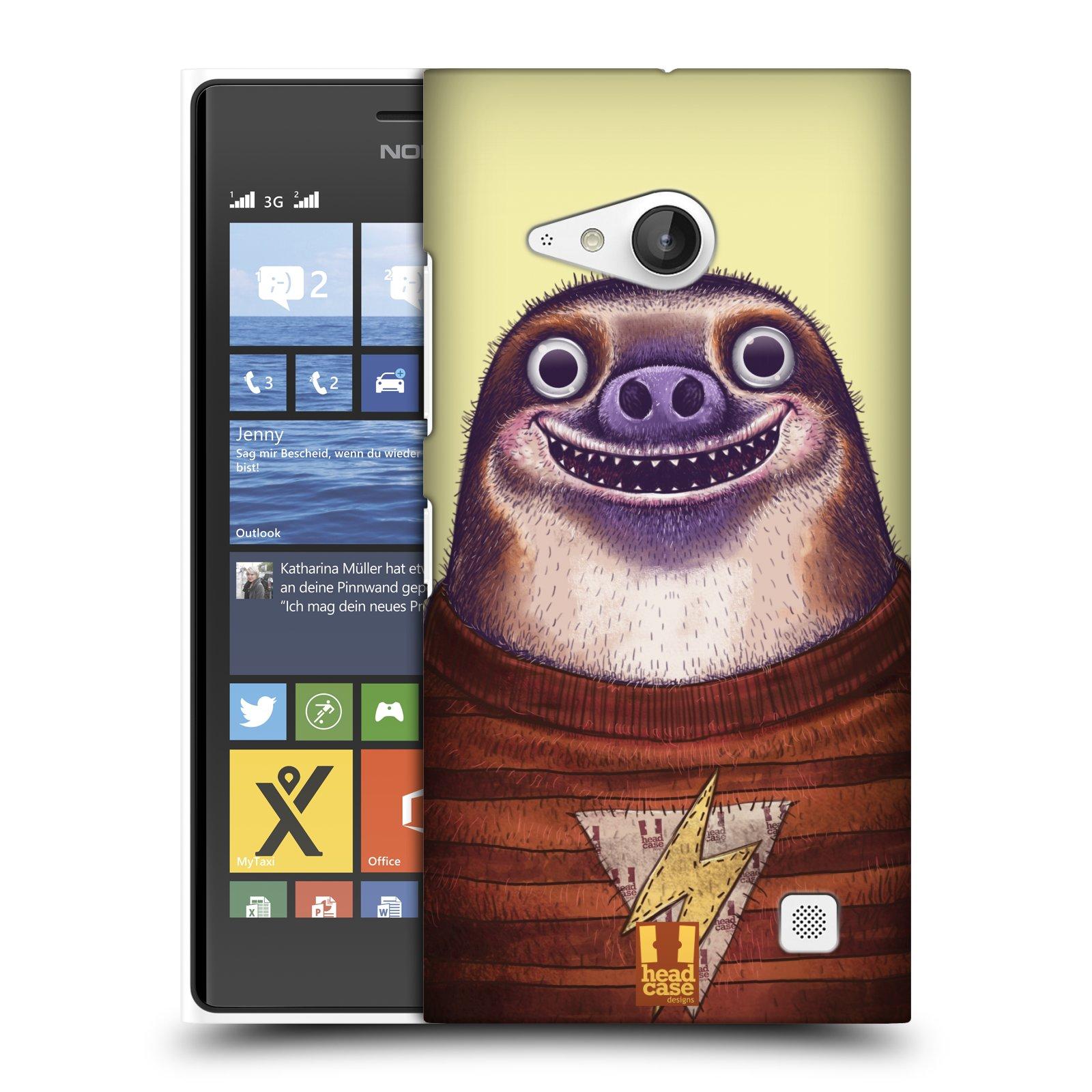 Plastové pouzdro na mobil Nokia Lumia 735 HEAD CASE ANIMPLA LENOCHOD