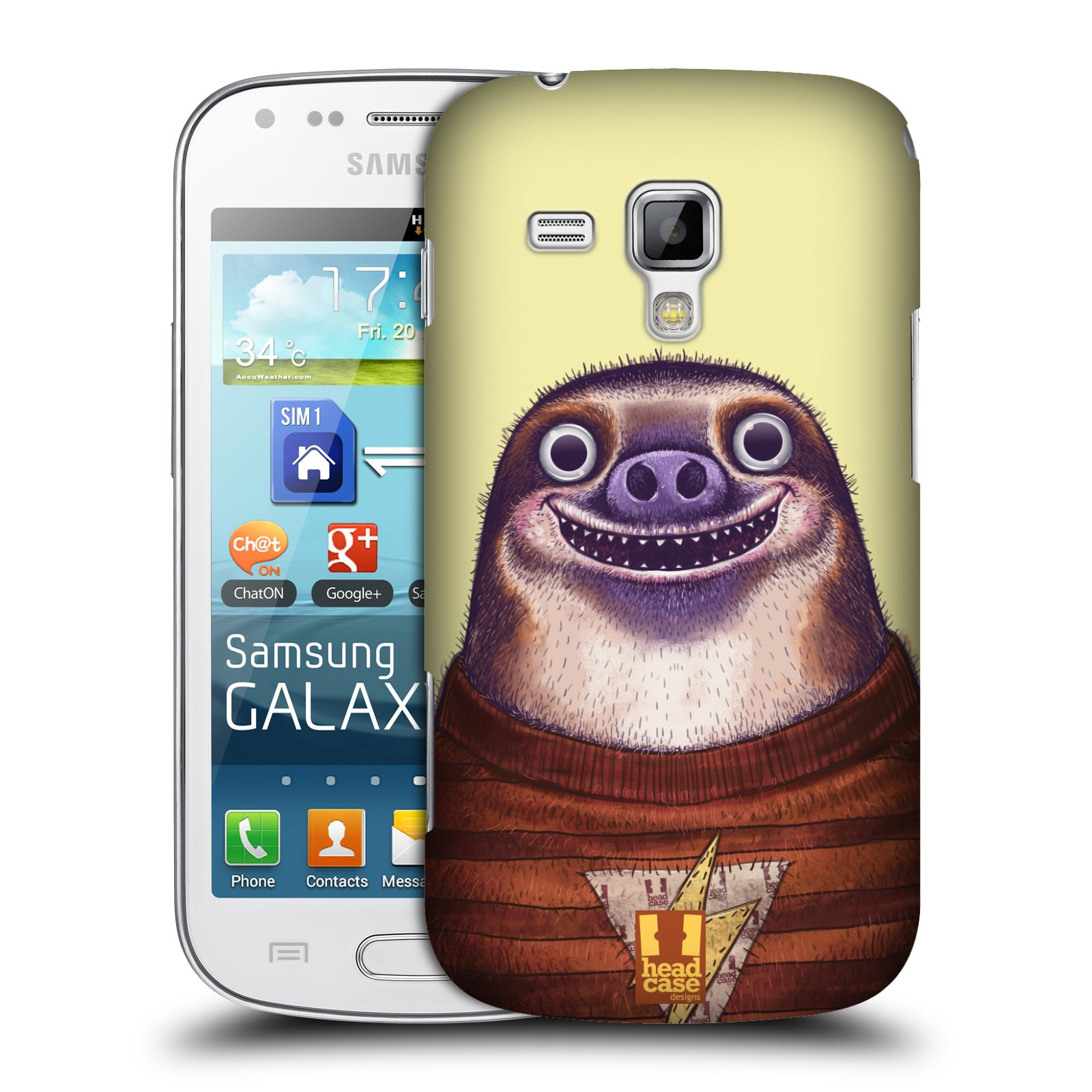 Plastové pouzdro na mobil Samsung Galaxy S Duos 2 HEAD CASE ANIMPLA LENOCHOD