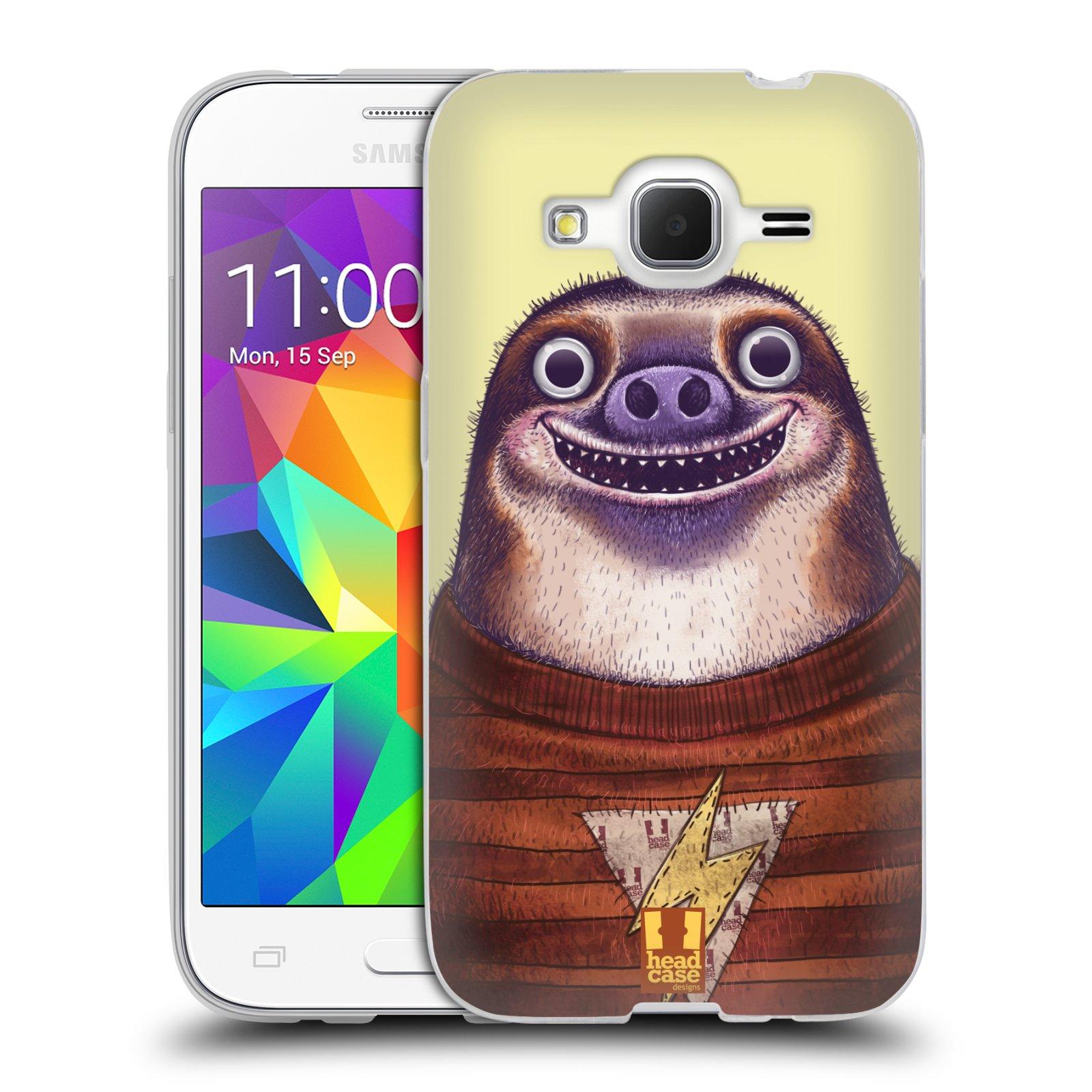 Silikonové pouzdro na mobil Samsung Galaxy Core Prime LTE HEAD CASE ANIMPLA LENOCHOD