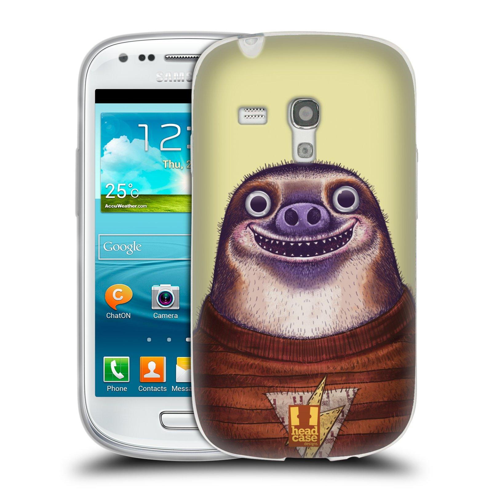 Silikonové pouzdro na mobil Samsung Galaxy S III Mini HEAD CASE ANIMPLA LENOCHOD (Silikonový kryt či obal na mobilní telefon Samsung Galaxy S III Mini GT-i8190)