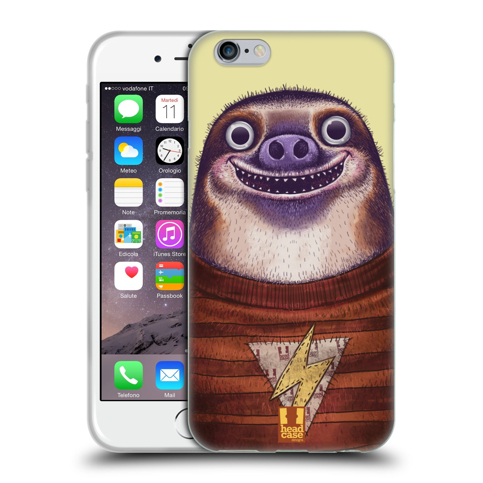 Silikonové pouzdro na mobil Apple iPhone 6 a 6S HEAD CASE ANIMPLA LENOCHOD