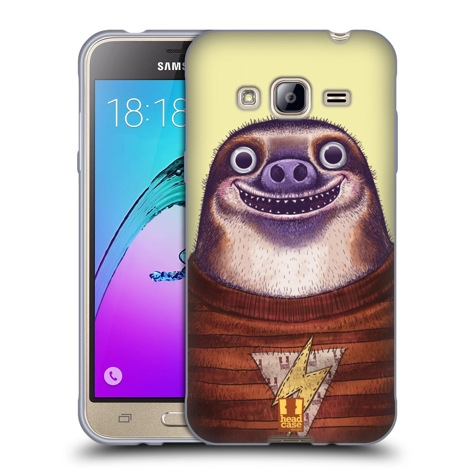Silikonové pouzdro na mobil Samsung Galaxy J3 (2016) HEAD CASE ANIMPLA LENOCHOD