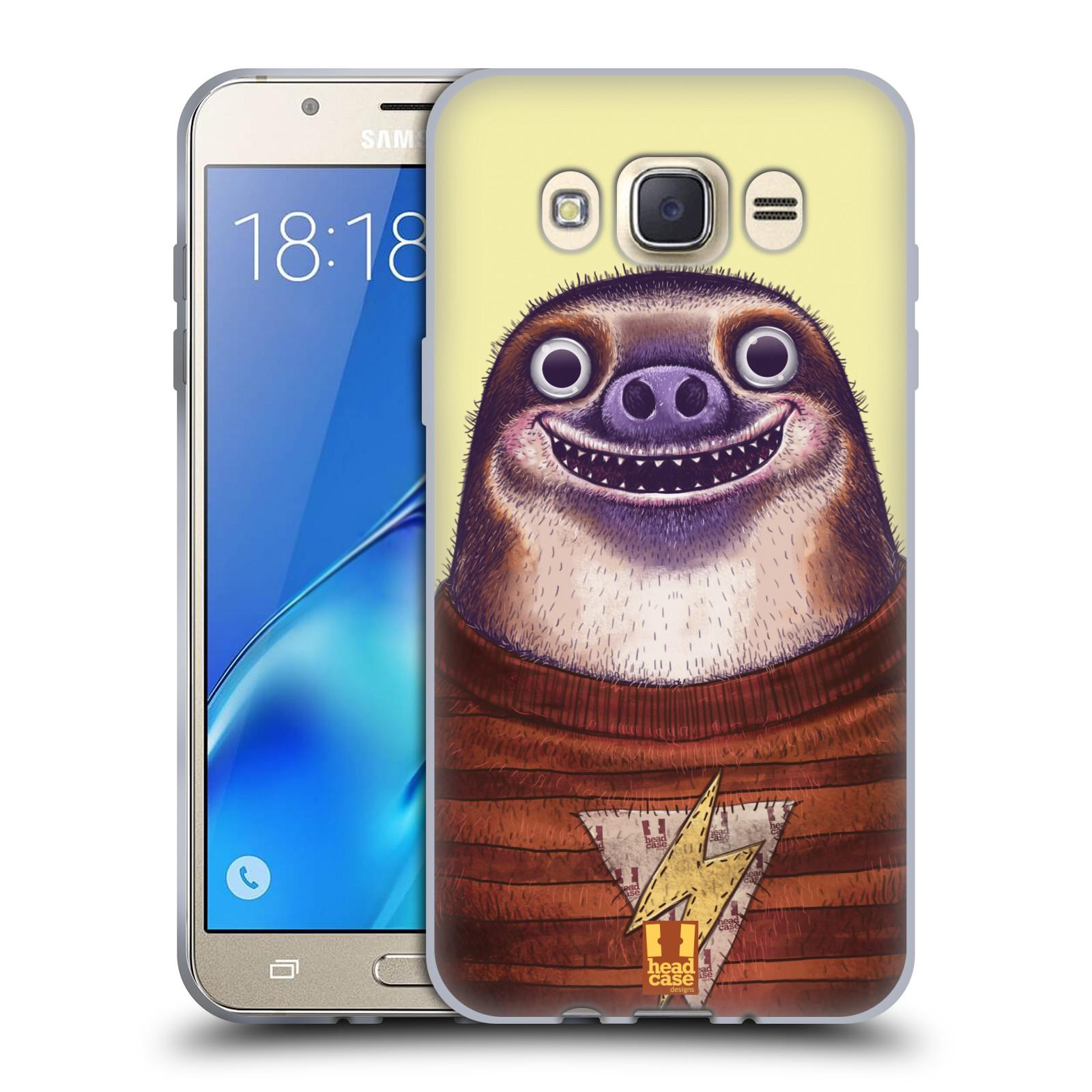 Silikonové pouzdro na mobil Samsung Galaxy J7 (2016) HEAD CASE ANIMPLA LENOCHOD
