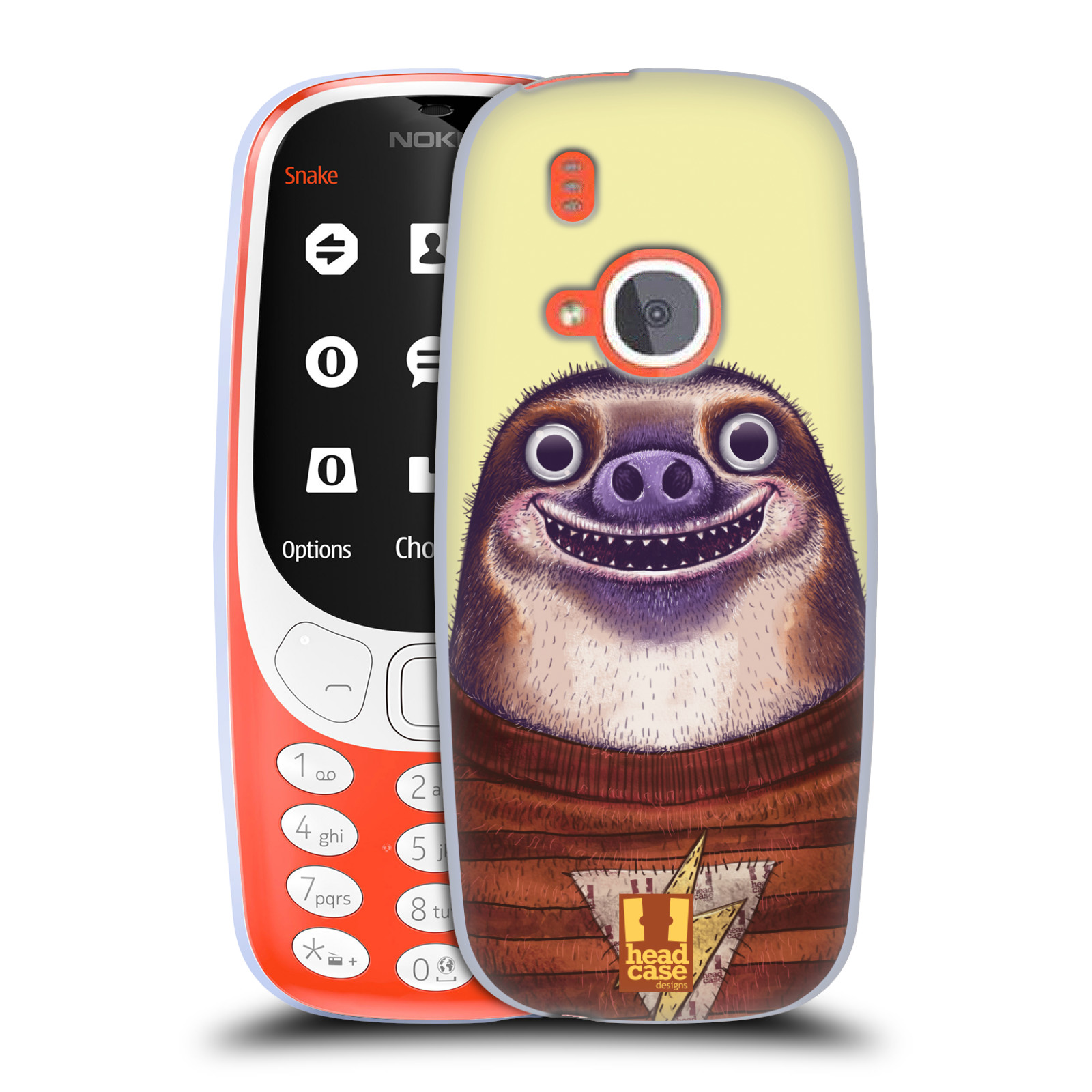 Silikonové pouzdro na mobil Nokia 3310 - Head Case - ANIMPLA LENOCHOD