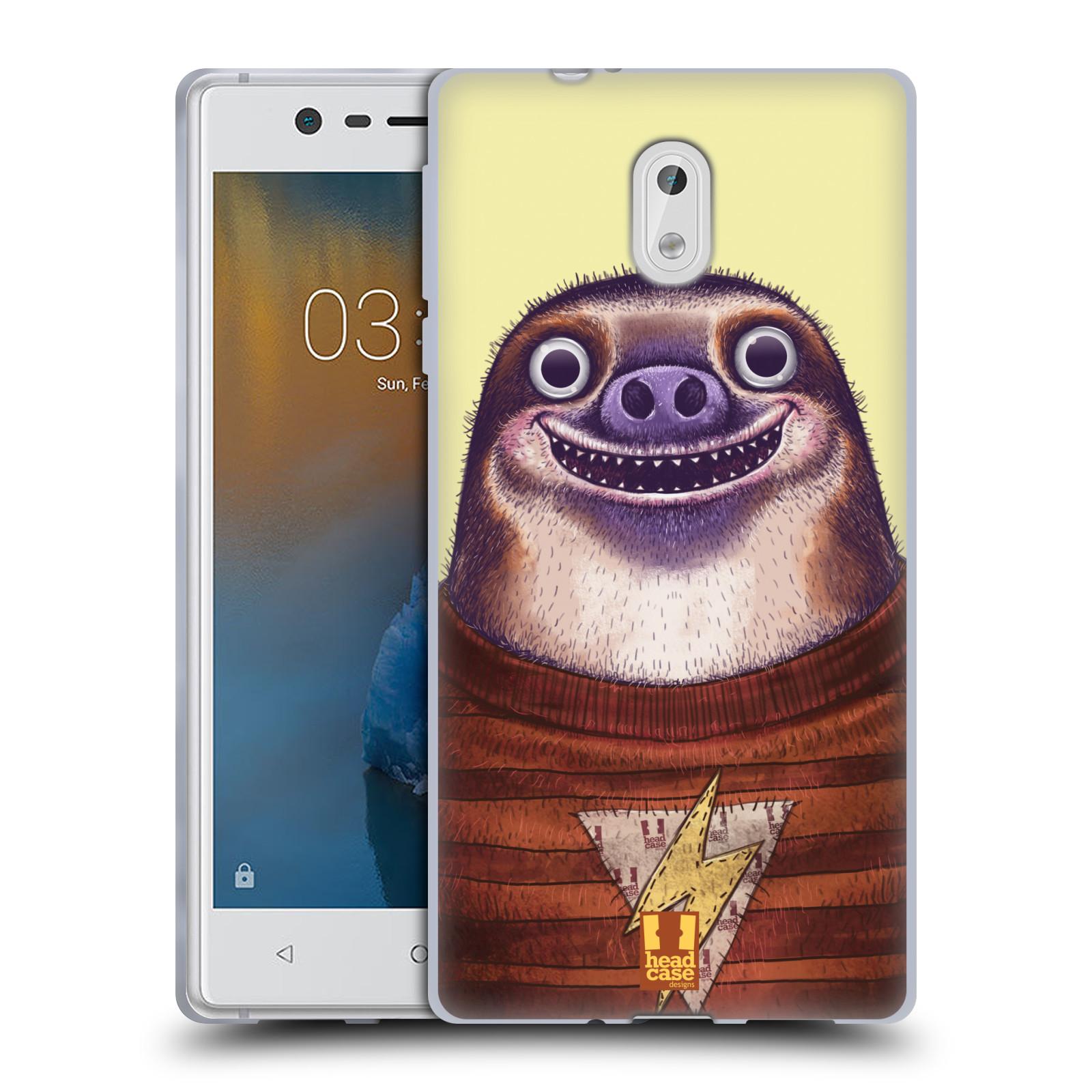 Silikonové pouzdro na mobil Nokia 3 Head Case - ANIMPLA LENOCHOD