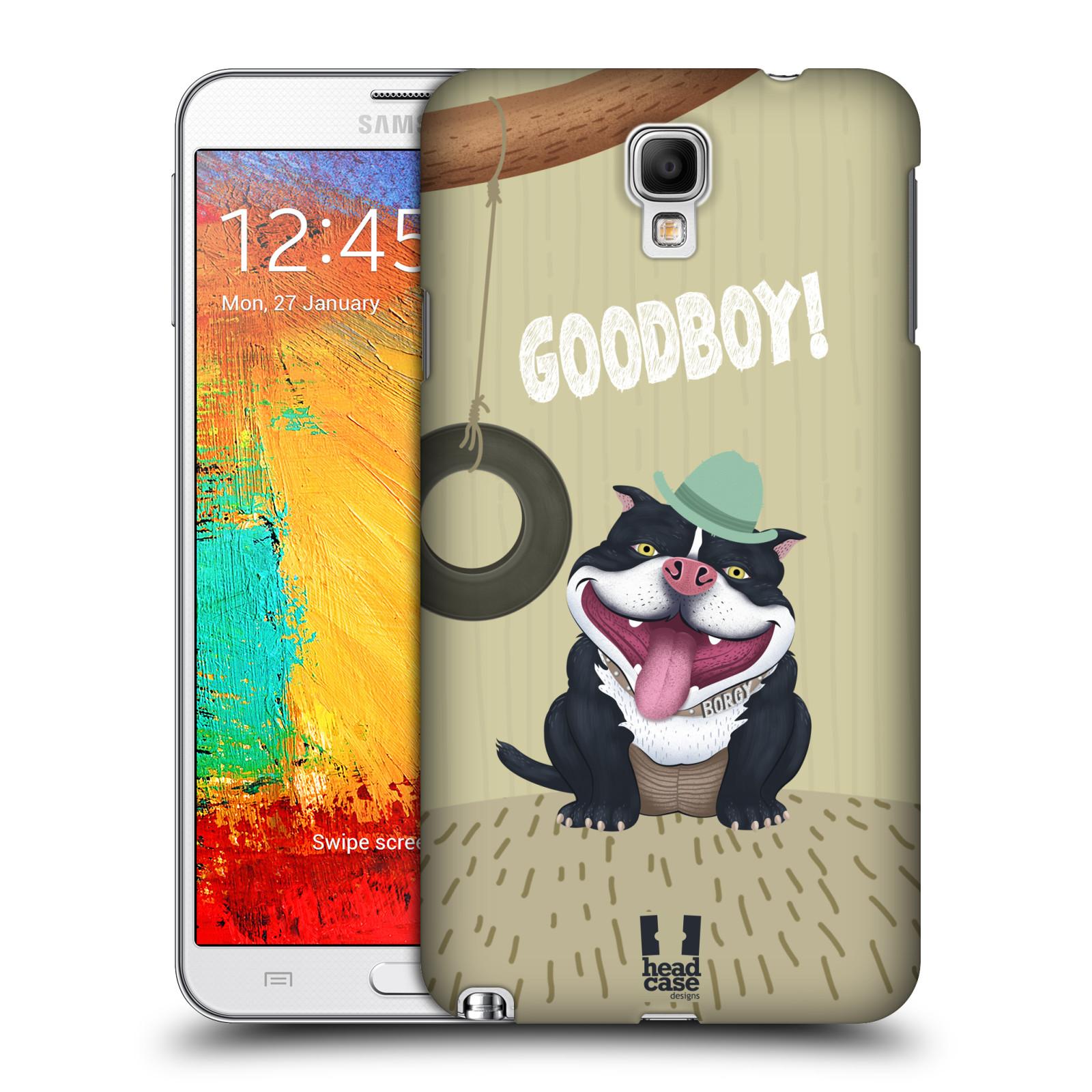 Plastové pouzdro na mobil Samsung Galaxy Note 3 Neo HEAD CASE Goodboy! Pejsek (Kryt či obal na mobilní telefon Samsung Galaxy Note 3 Neo SM-N7505)
