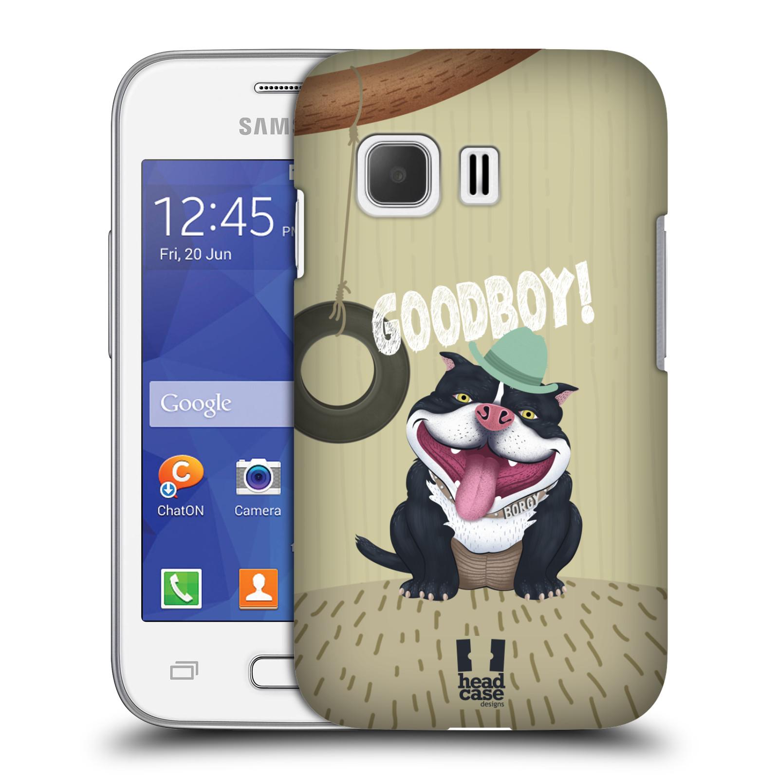 Plastové pouzdro na mobil Samsung Galaxy Young 2 HEAD CASE Goodboy! Pejsek (Kryt či obal na mobilní telefon Samsung Galaxy Young 2 SM-G130)