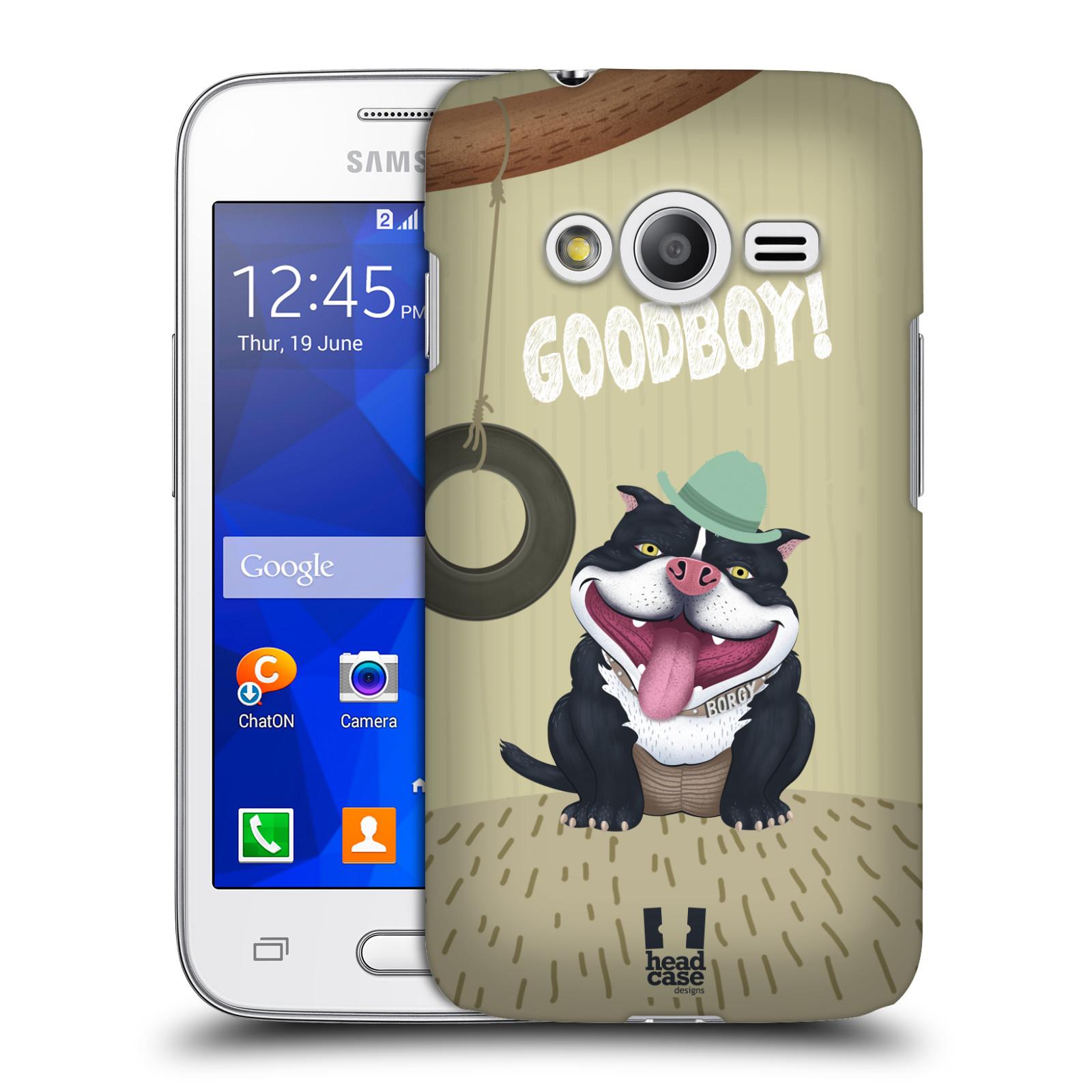 Plastové pouzdro na mobil Samsung Galaxy Trend 2 Lite HEAD CASE Goodboy! Pejsek (Kryt či obal na mobilní telefon Samsung Galaxy Trend 2 Lite SM-G318)