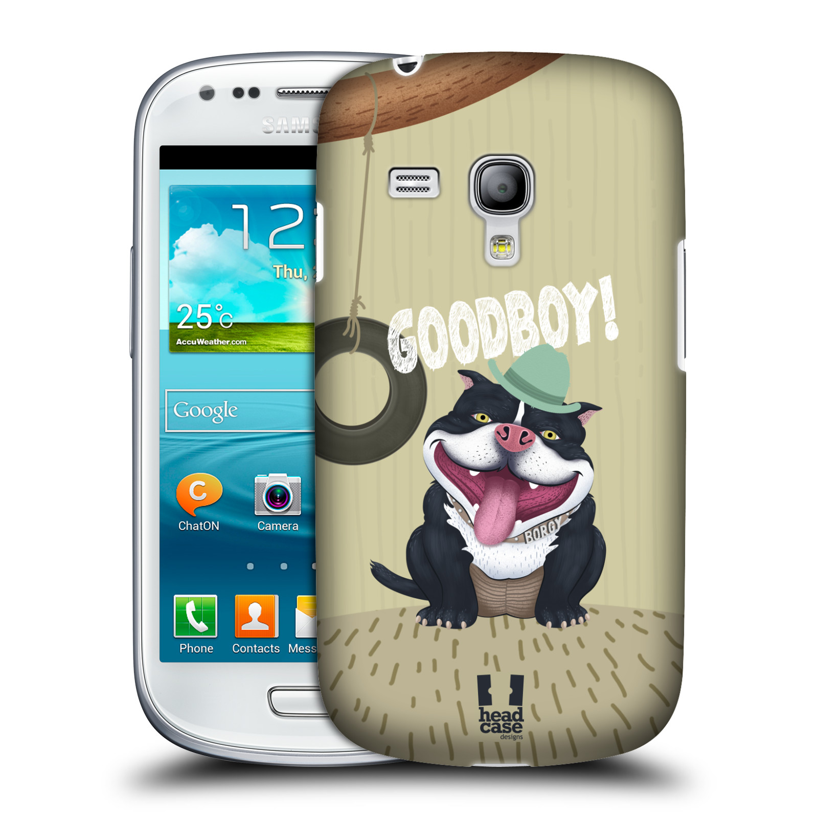 Plastové pouzdro na mobil Samsung Galaxy S III Mini HEAD CASE Goodboy! Pejsek (Kryt či obal na mobilní telefon Samsung Galaxy S III Mini GT-i8190)