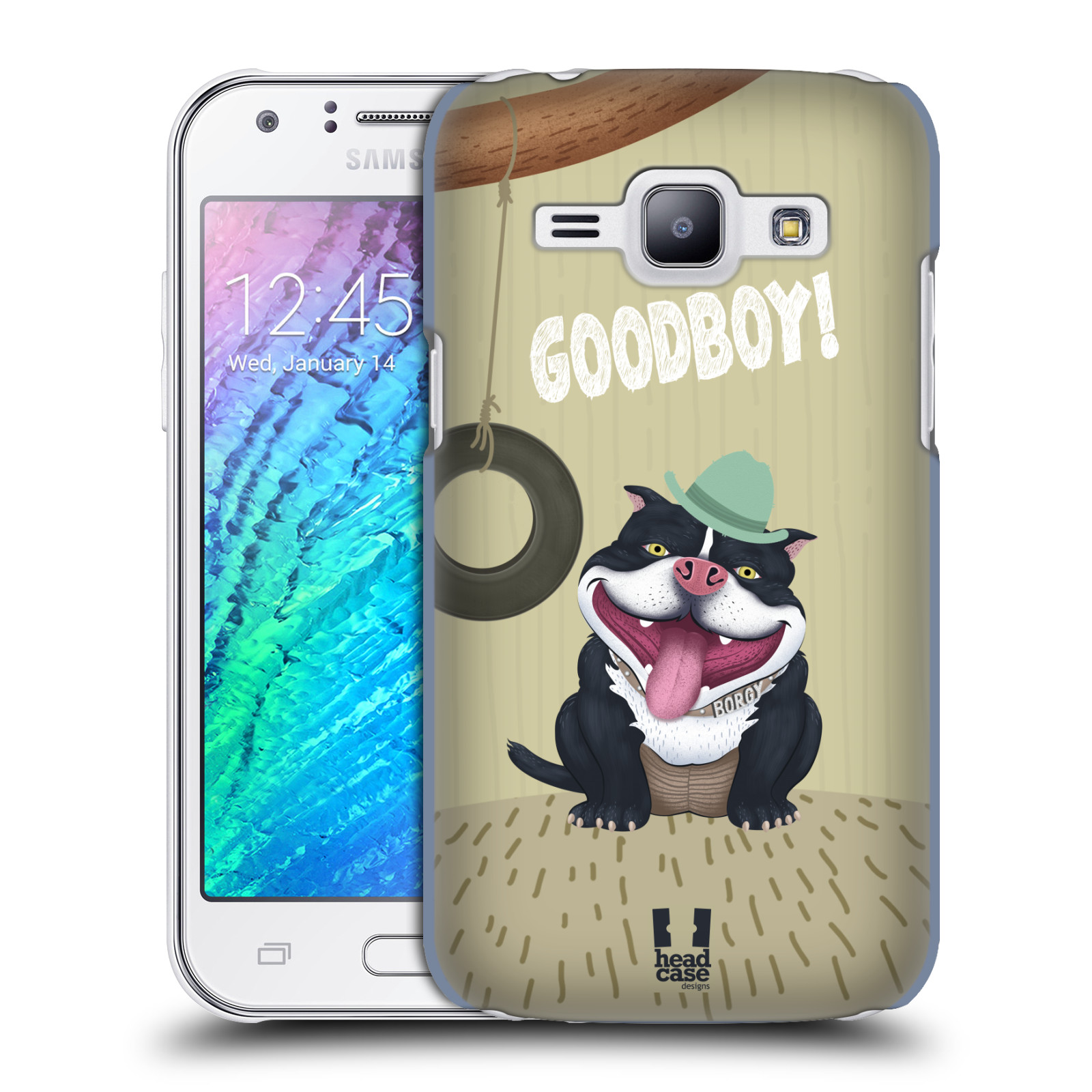 Plastové pouzdro na mobil Samsung Galaxy J1 HEAD CASE Goodboy! Pejsek (Kryt či obal na mobilní telefon Samsung Galaxy J1 a J1 Duos )