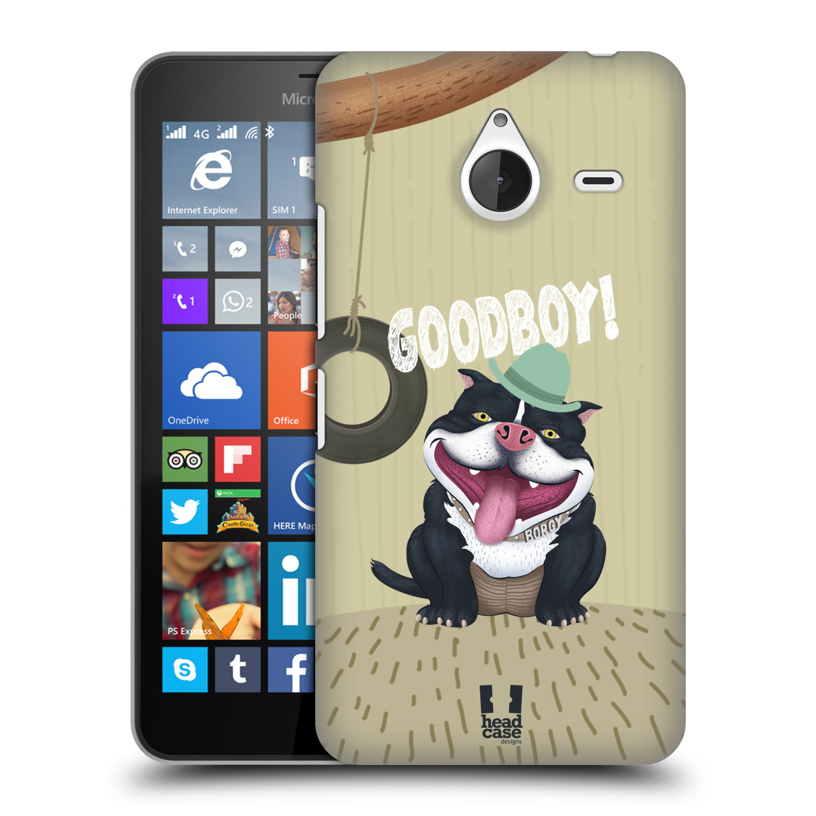 Plastové pouzdro na mobil Microsoft Lumia 640 XL HEAD CASE Goodboy! Pejsek (Kryt či obal na mobilní telefon Microsoft Lumia 640 XL)