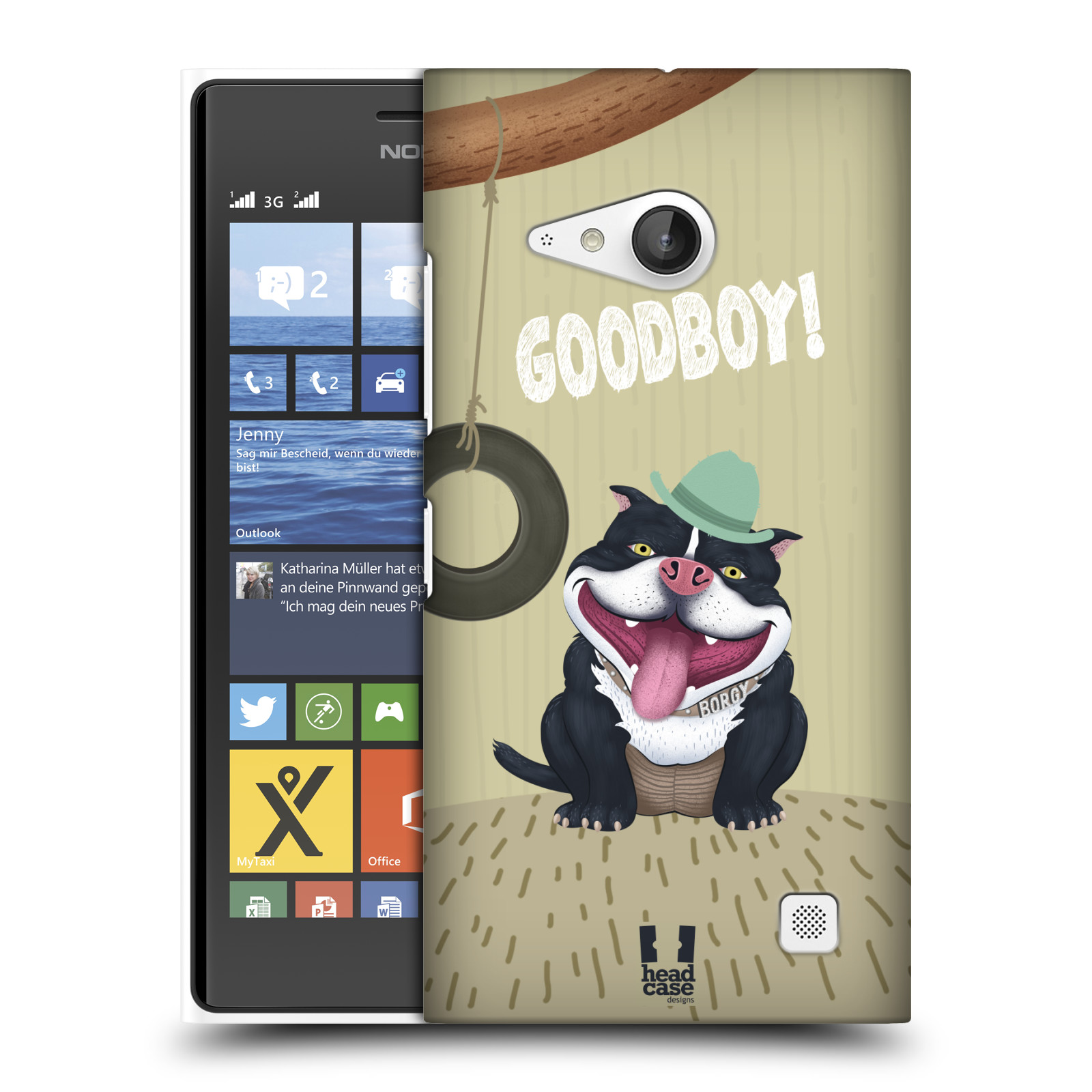Plastové pouzdro na mobil Nokia Lumia 730 Dual SIM HEAD CASE Goodboy! Pejsek (Kryt či obal na mobilní telefon Nokia Lumia 730 Dual SIM)