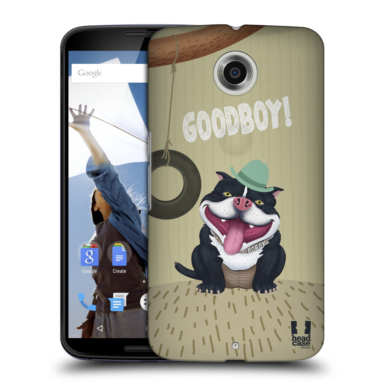 Plastové pouzdro na mobil Motorola Nexus 6 HEAD CASE Goodboy! Pejsek (Kryt či obal na mobilní telefon Motorola Nexus 6)