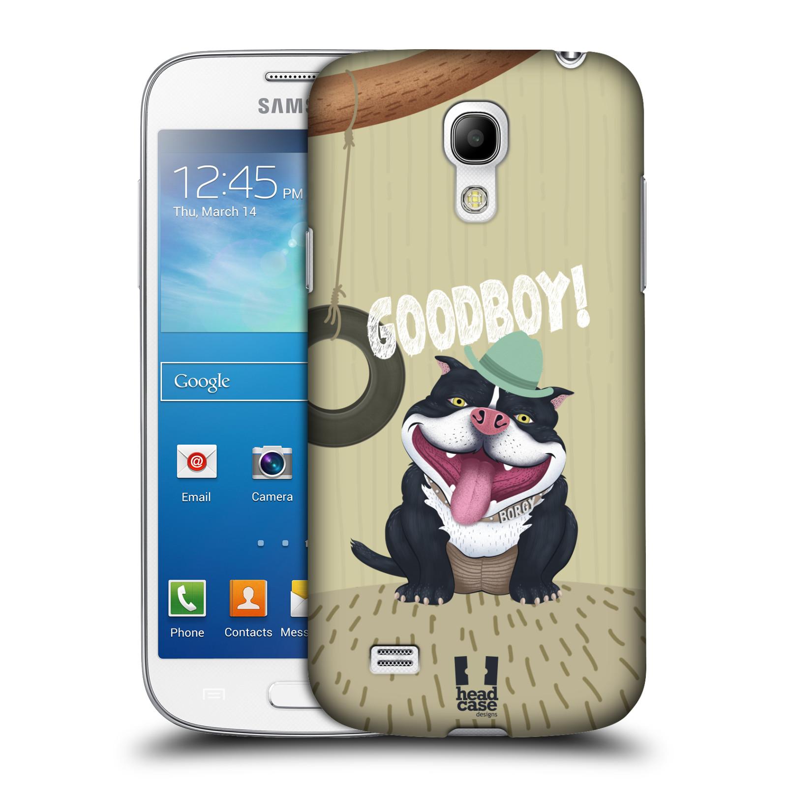 Plastové pouzdro na mobil Samsung Galaxy S4 Mini HEAD CASE Goodboy! Pejsek (Kryt či obal na mobilní telefon Samsung Galaxy S4 Mini GT-i9195 / i9190)