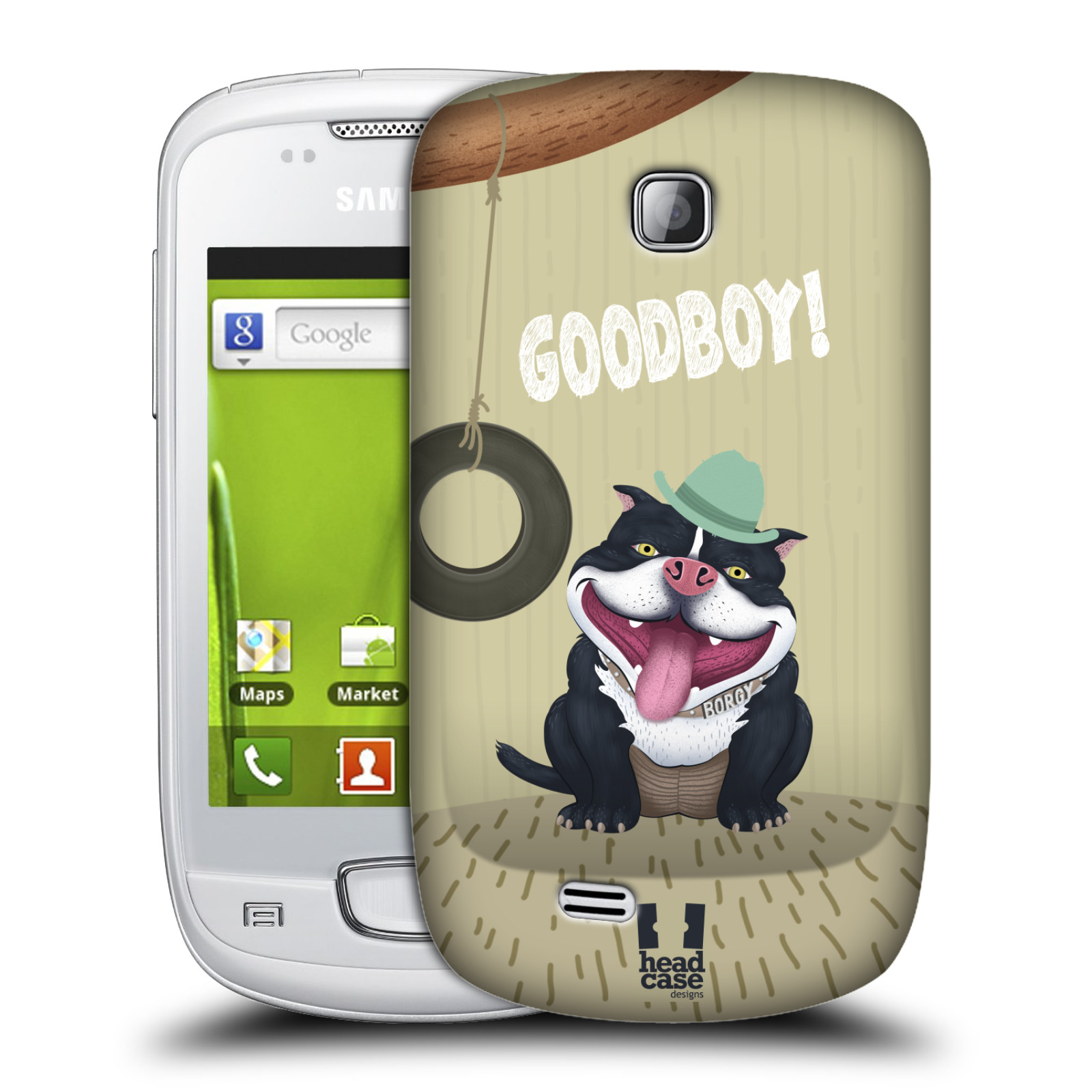 Plastové pouzdro na mobil Samsung Galaxy Mini HEAD CASE Goodboy! Pejsek (Kryt či obal na mobilní telefon Samsung Galaxy Mini GT-S5570 / GT-S5570i)