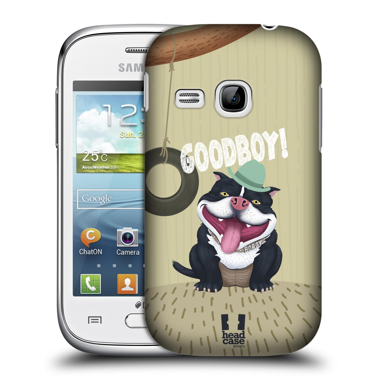 Plastové pouzdro na mobil Samsung Galaxy Young HEAD CASE Goodboy! Pejsek (Kryt či obal na mobilní telefon Samsung Galaxy Young GT-S6310)