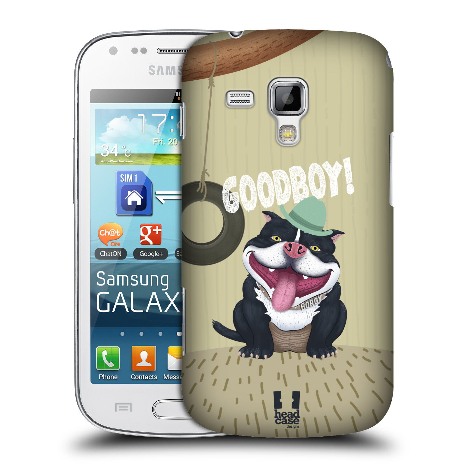 Plastové pouzdro na mobil Samsung Galaxy S Duos HEAD CASE Goodboy! Pejsek (Kryt či obal na mobilní telefon Samsung Galaxy S Duos GT-S7562)