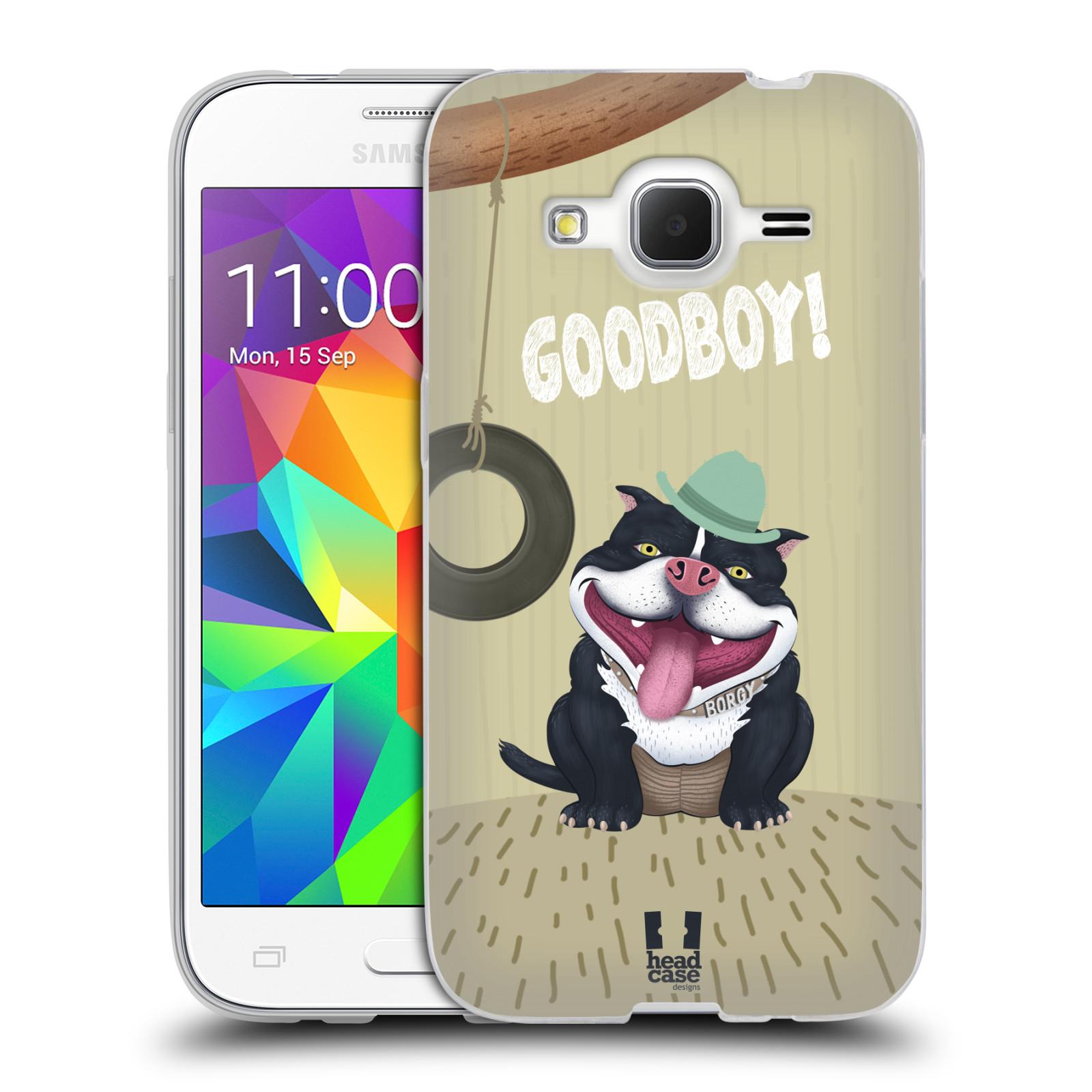 Silikonové pouzdro na mobil Samsung Galaxy Core Prime LTE HEAD CASE Goodboy! Pejsek (Silikonový kryt či obal na mobilní telefon Samsung Galaxy Core Prime LTE SM-G360)