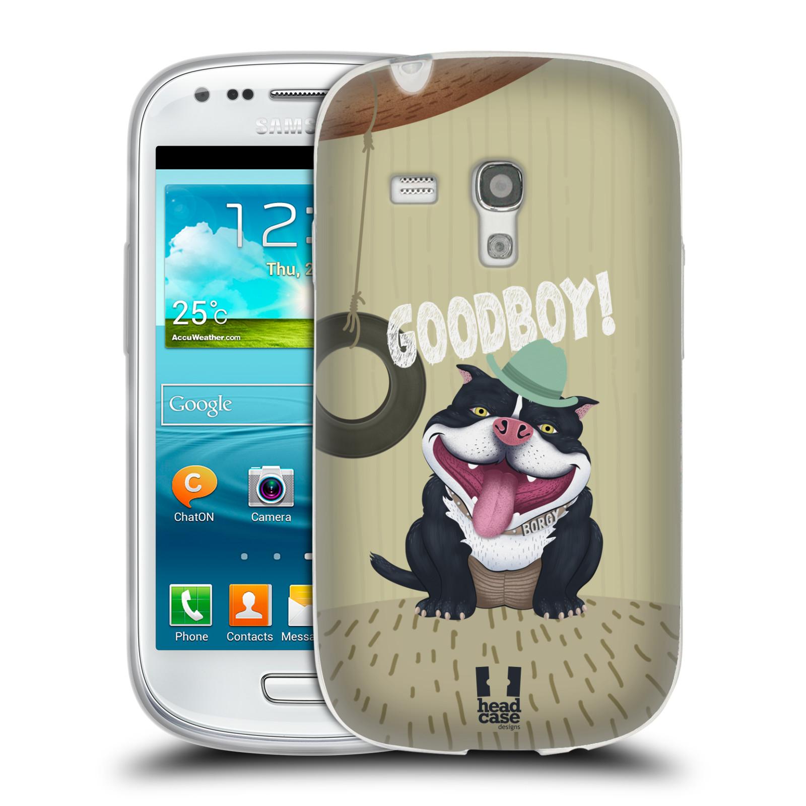 Silikonové pouzdro na mobil Samsung Galaxy S III Mini HEAD CASE Goodboy! Pejsek (Silikonový kryt či obal na mobilní telefon Samsung Galaxy S III Mini GT-i8190)