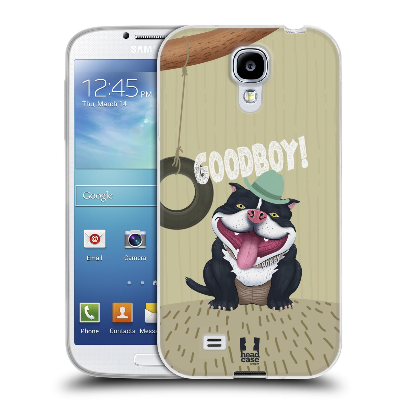 Silikonové pouzdro na mobil Samsung Galaxy S4 HEAD CASE Goodboy! Pejsek (Silikonový kryt či obal na mobilní telefon Samsung Galaxy S4 GT-i9505 / i9500)