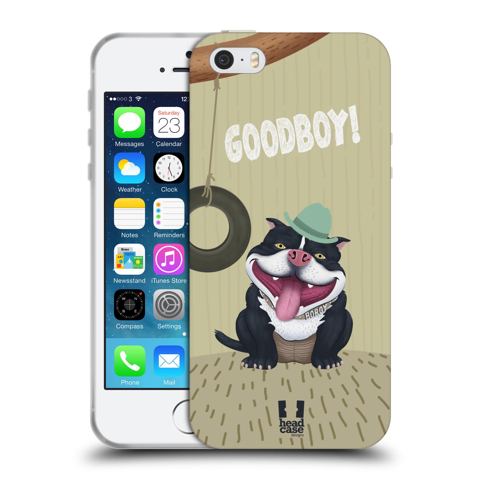 Silikonové pouzdro na mobil Apple iPhone SE, 5 a 5S HEAD CASE Goodboy! Pejsek (Silikonový kryt či obal na mobilní telefon Apple iPhone SE, 5 a 5S)