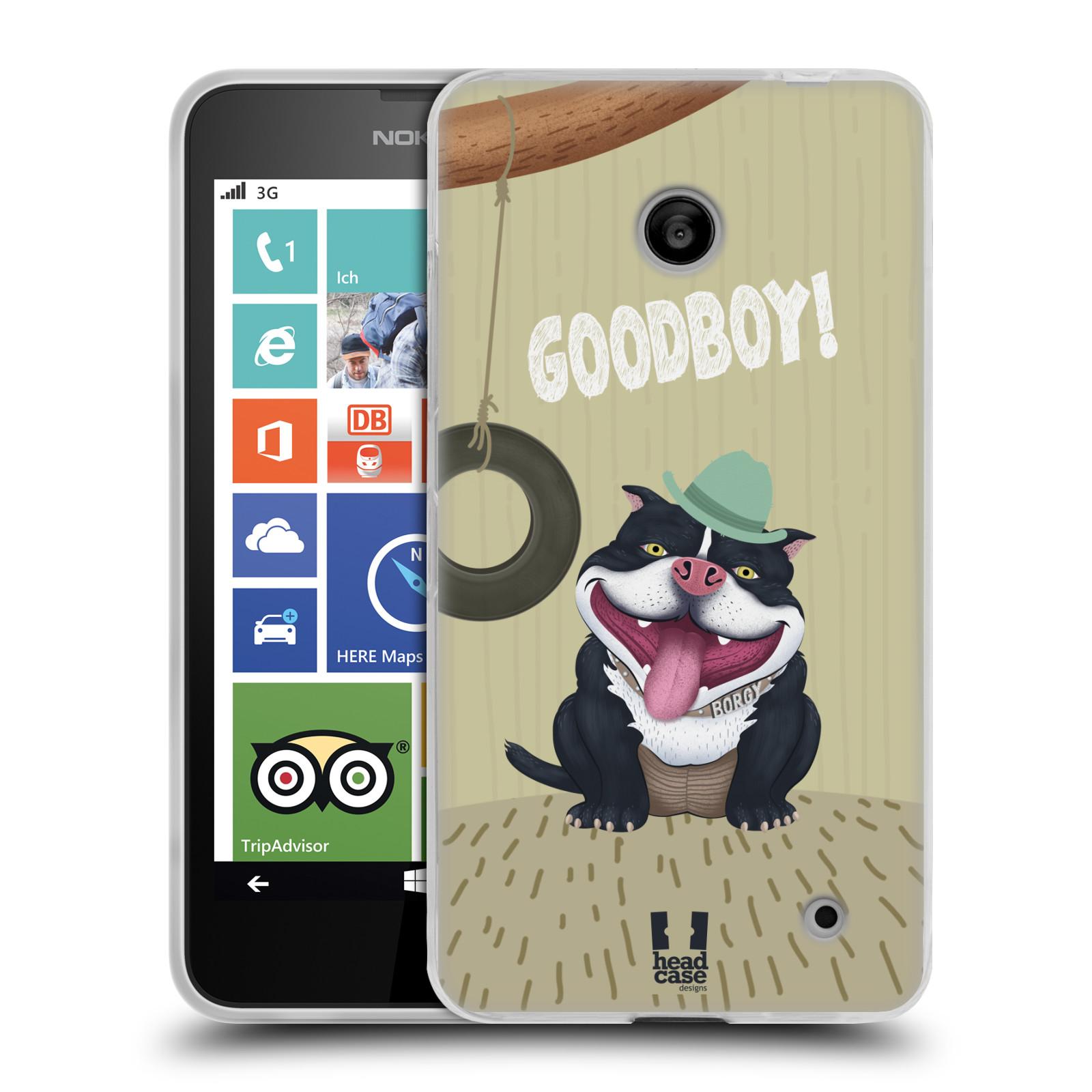 Silikonové pouzdro na mobil Nokia Lumia 630 HEAD CASE Goodboy! Pejsek (Silikonový kryt či obal na mobilní telefon Nokia Lumia 630 a Nokia Lumia 630 Dual SIM)