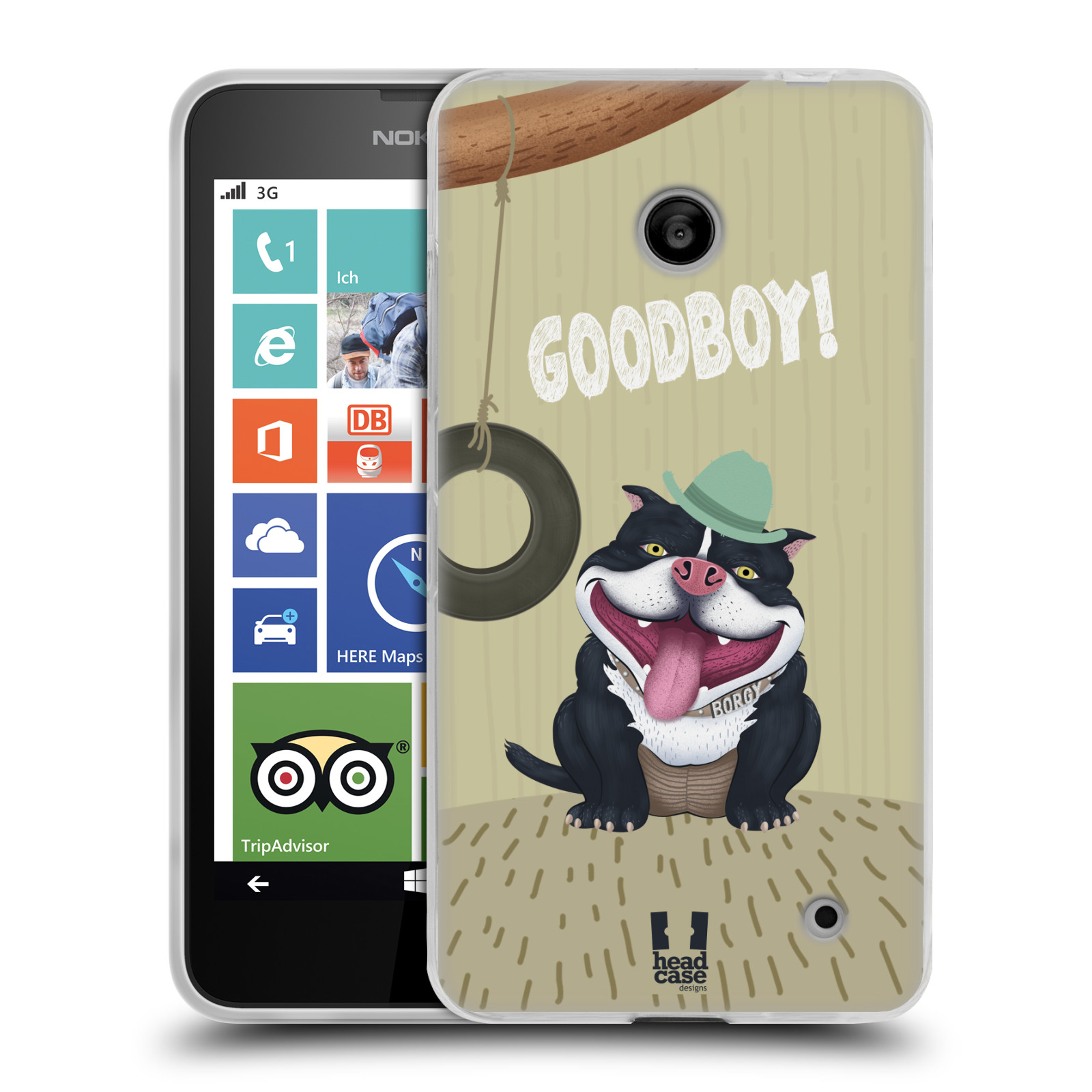 Silikonové pouzdro na mobil Nokia Lumia 635 HEAD CASE Goodboy! Pejsek (Silikonový kryt či obal na mobilní telefon Nokia Lumia 635 Dual SIM)