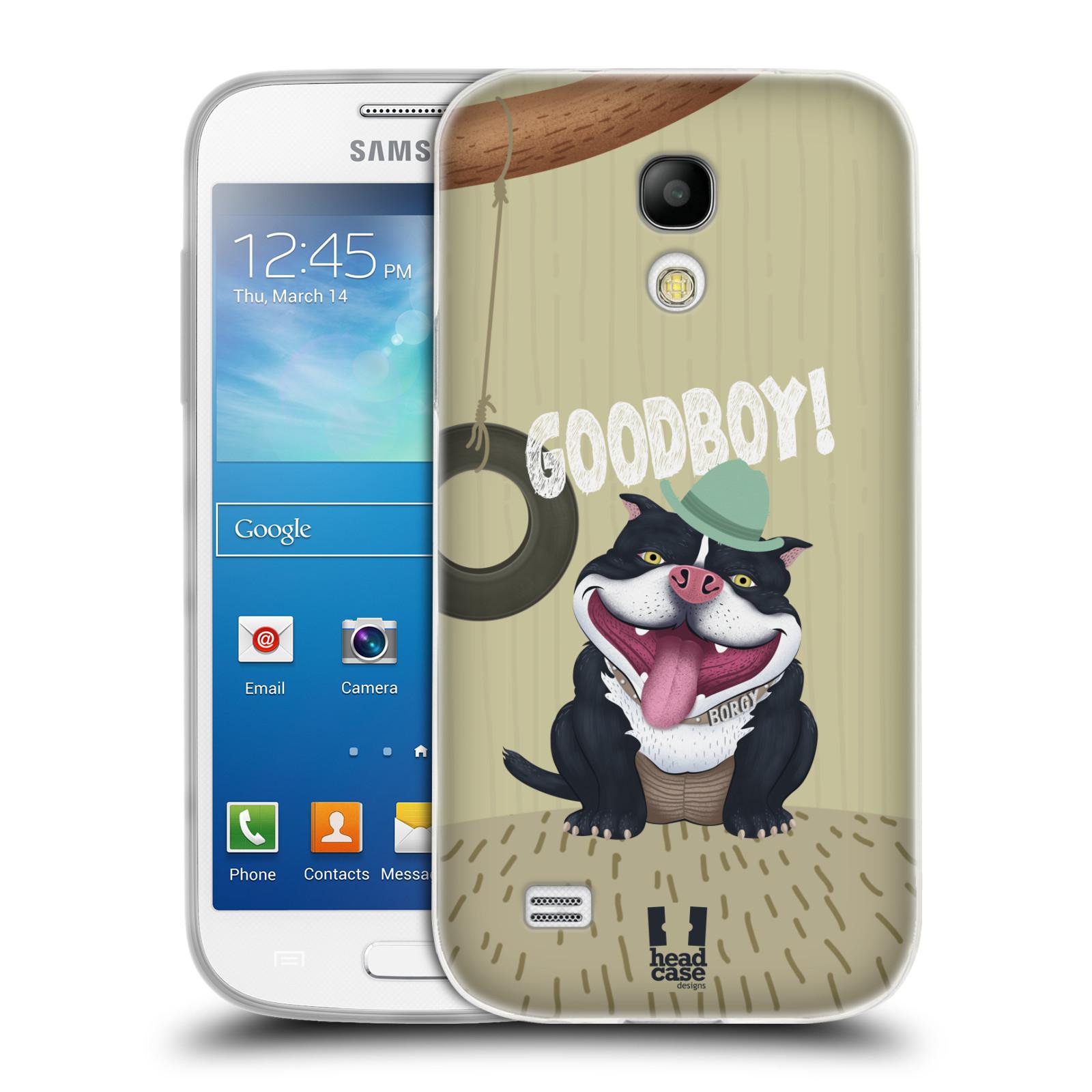 Silikonové pouzdro na mobil Samsung Galaxy S4 Mini HEAD CASE Goodboy! Pejsek (Silikonový kryt či obal na mobilní telefon Samsung Galaxy S4 Mini GT-i9195 / i9190)