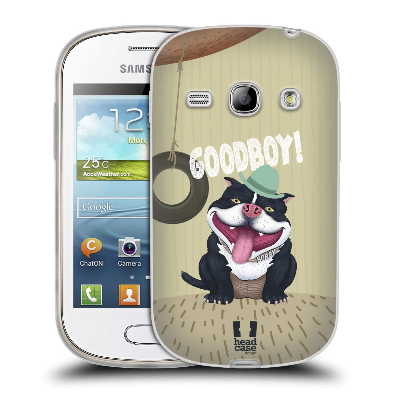Silikonové pouzdro na mobil Samsung Galaxy Fame HEAD CASE Goodboy! Pejsek (Silikonový kryt či obal na mobilní telefon Samsung Galaxy Fame GT-S6810)