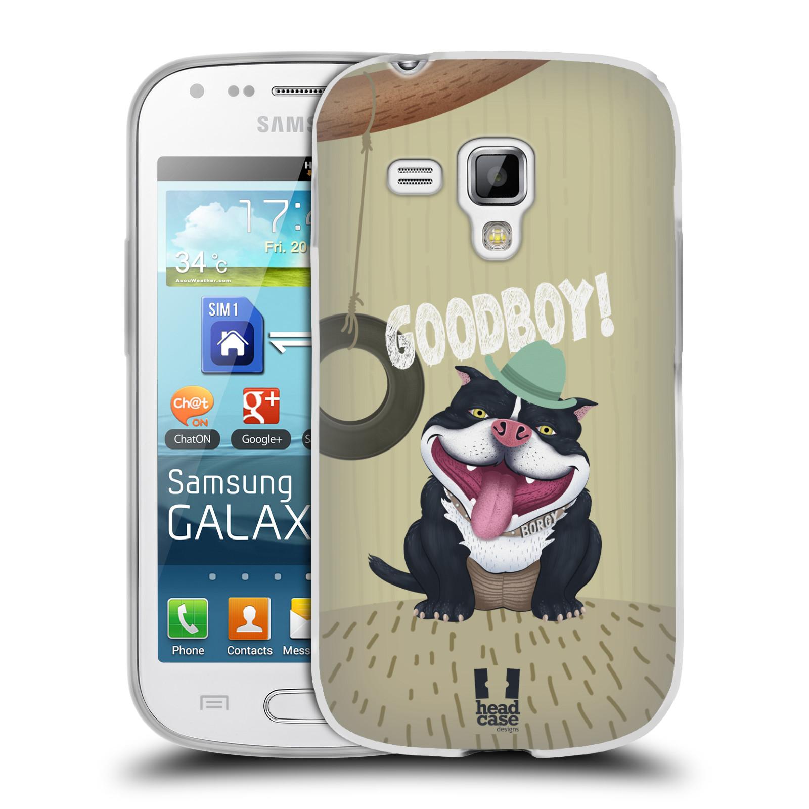 Silikonové pouzdro na mobil Samsung Galaxy S Duos HEAD CASE Goodboy! Pejsek (Silikonový kryt či obal na mobilní telefon Samsung Galaxy S Duos GT-S7562)