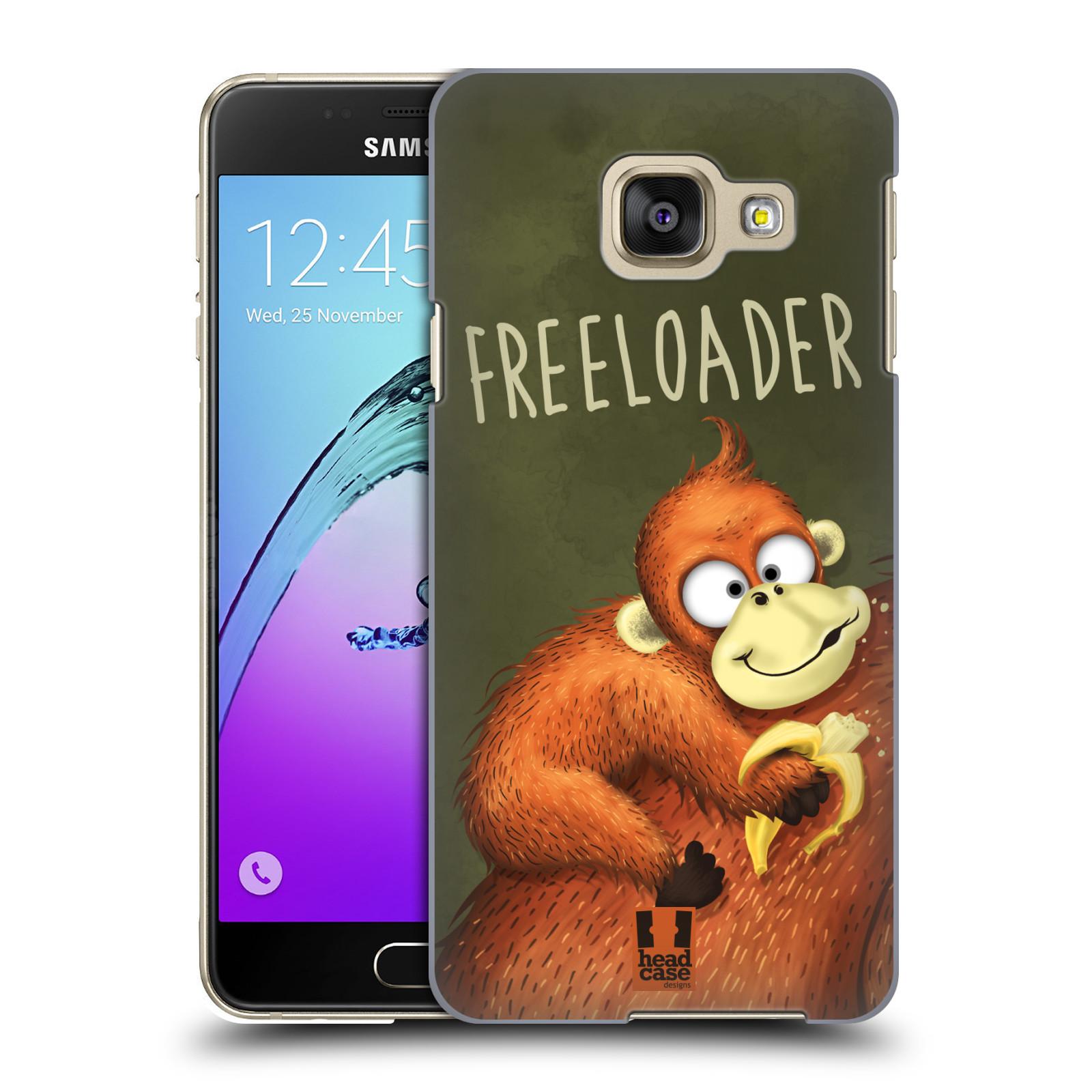 Plastové pouzdro na mobil Samsung Galaxy A3 (2016) HEAD CASE Opičák Freeloader